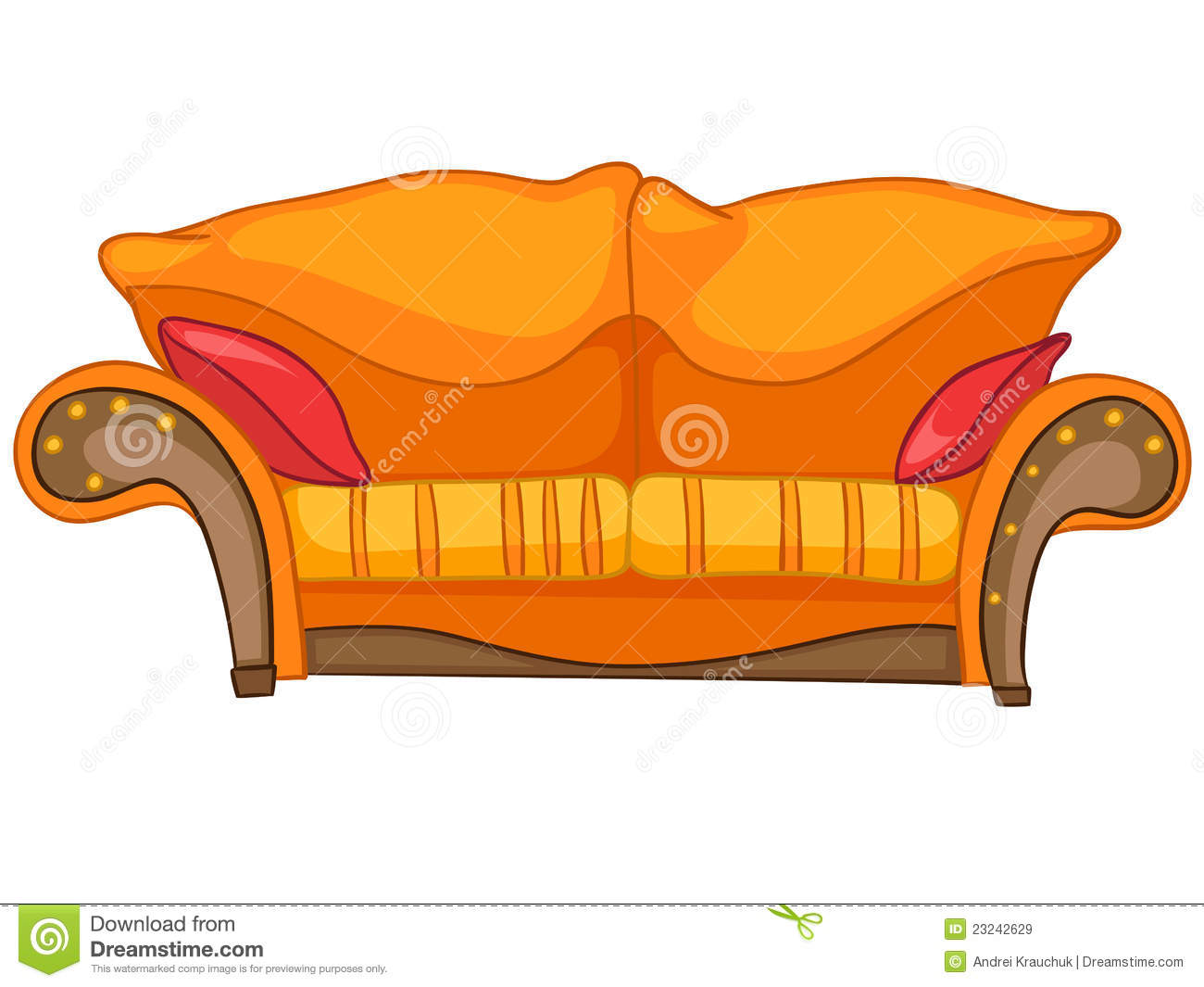 Cartoon Home Furniture Sofa Stock Vector Image 23242629