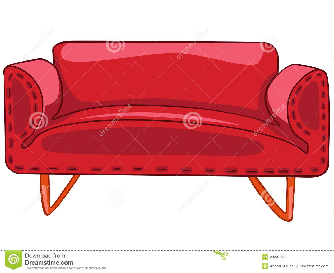 Cartoon Home Furniture Sofa Stock Photo - Image: 23242720