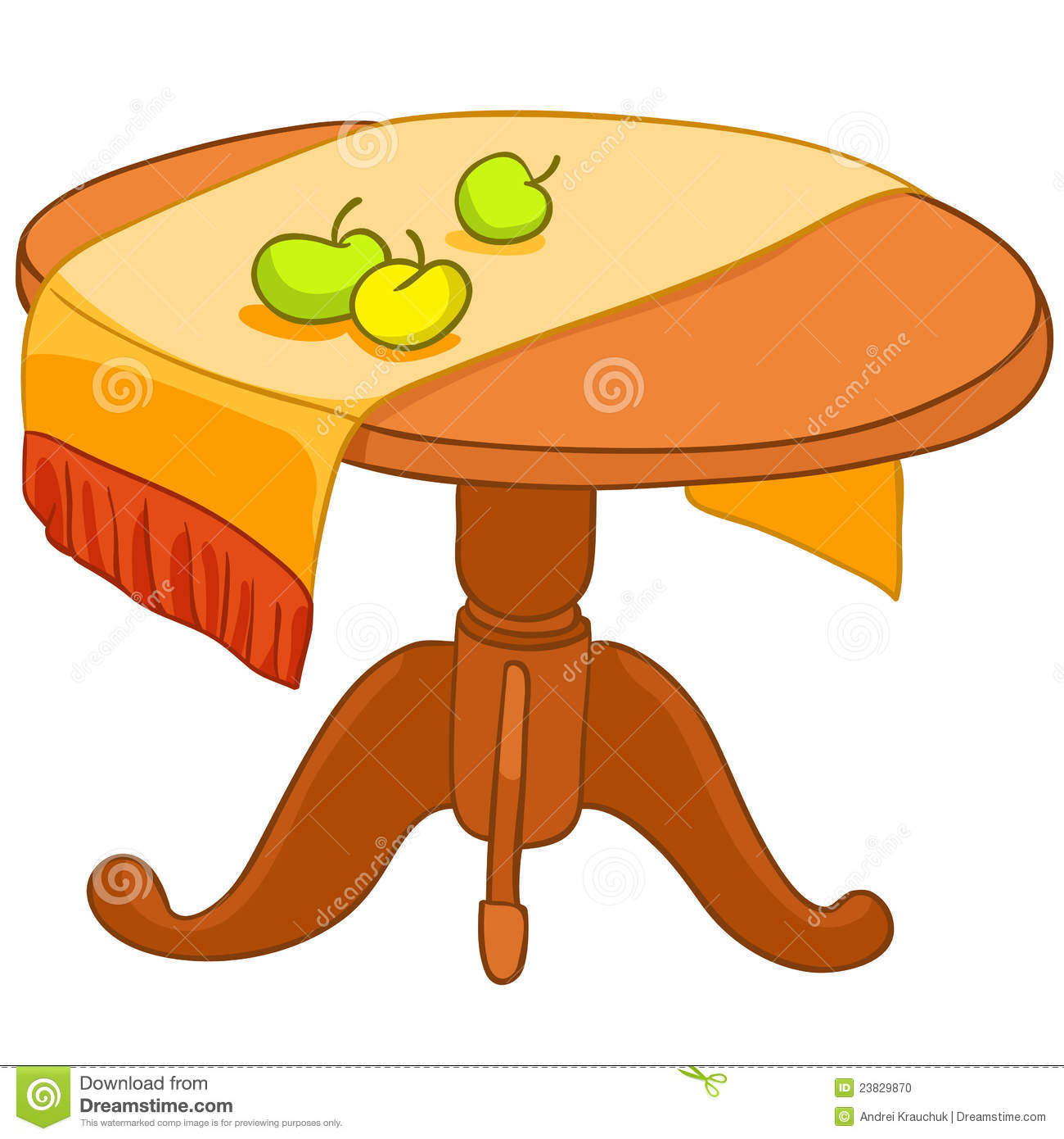 Cartoon Kitchen Furniture: Cartoon Home Furniture Table Stock Vector