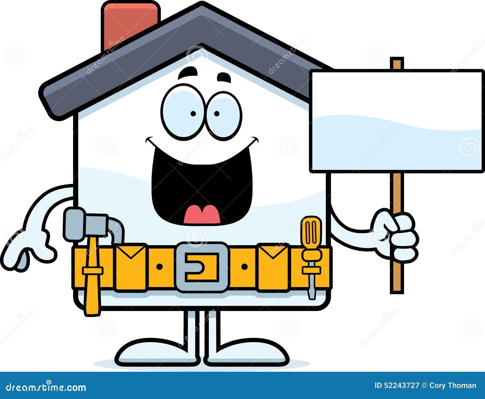 Cartoon Home Improvement Sign Stock Vector - Image: 52243727