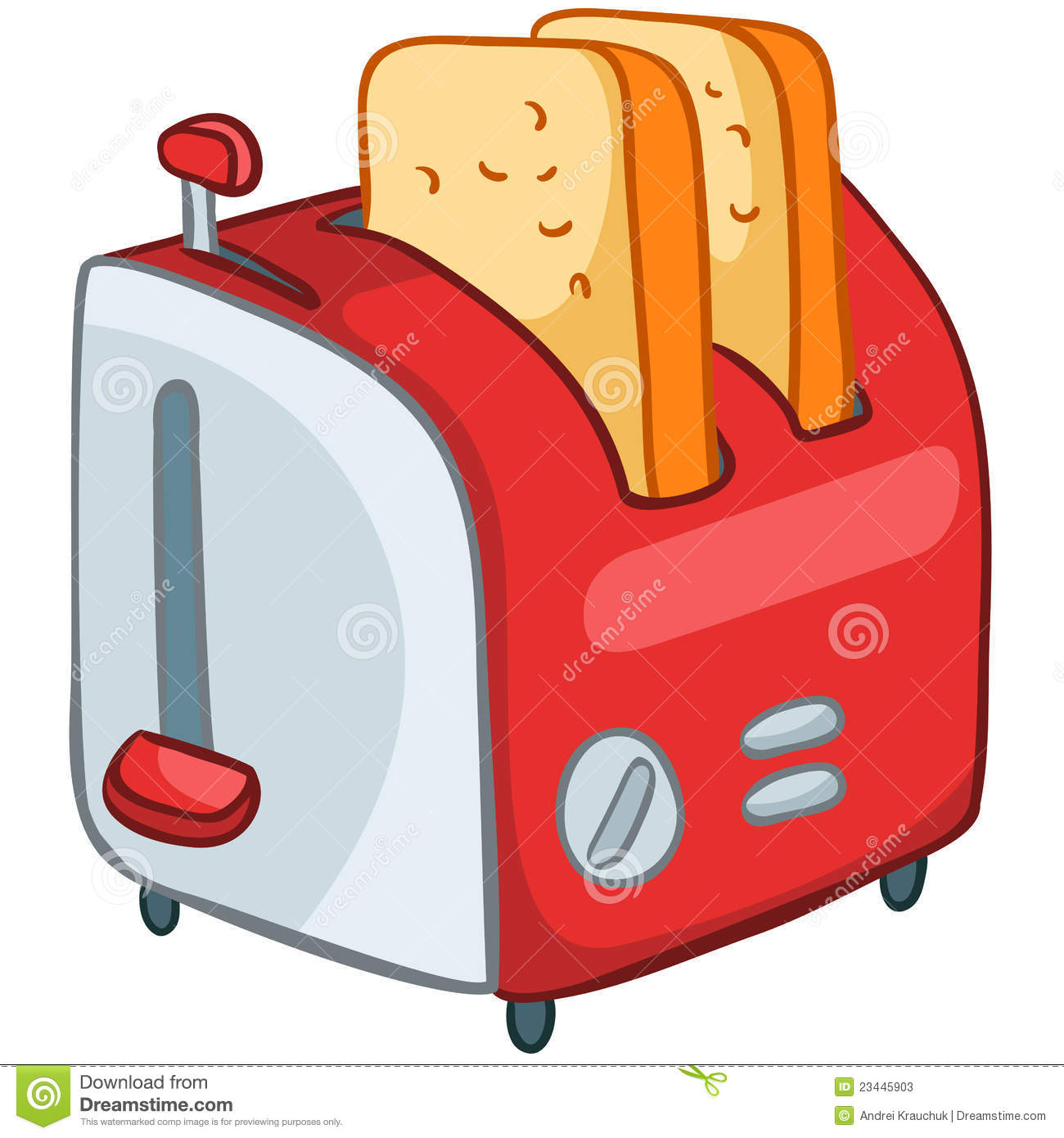Cartoon Home Kitchen Toaster Stock Photos Image 23445903