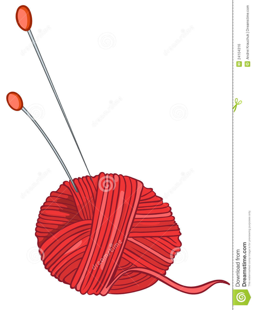 Cartoon Knitting Needles : Cartoon home miscellaneous knitting thread royalty free
