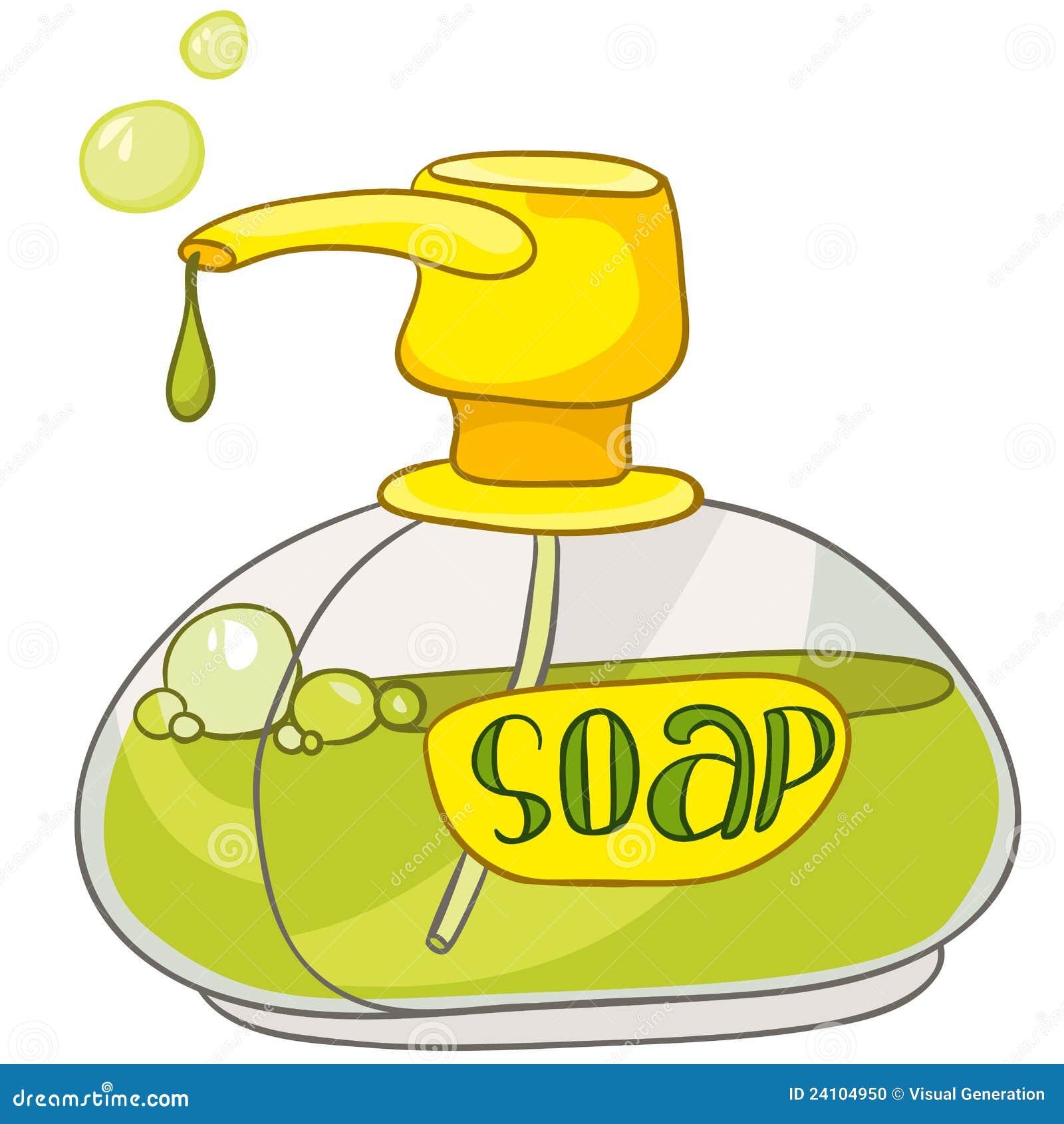 cartoon home washroom soap stock vector illustration of liquid 24104950. Black Bedroom Furniture Sets. Home Design Ideas