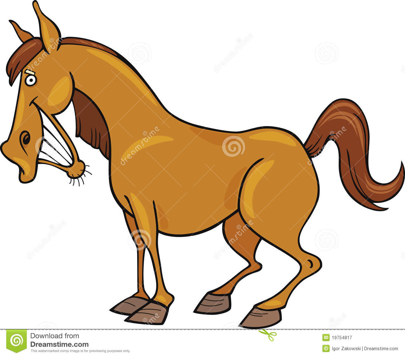 Cartoon horse royalty free stock photography image 19754817 - Clipart cheval ...