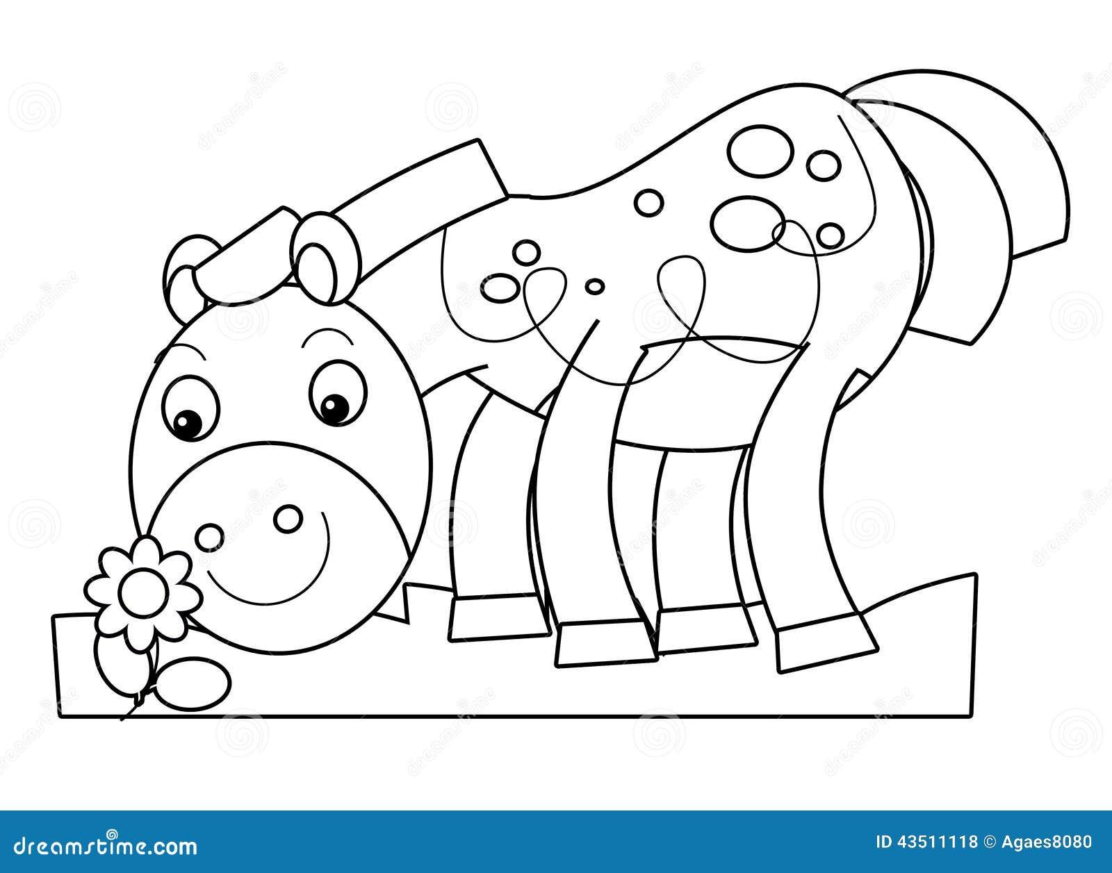 Cartoon horse stock illustration. Image of mascot, graphic ...