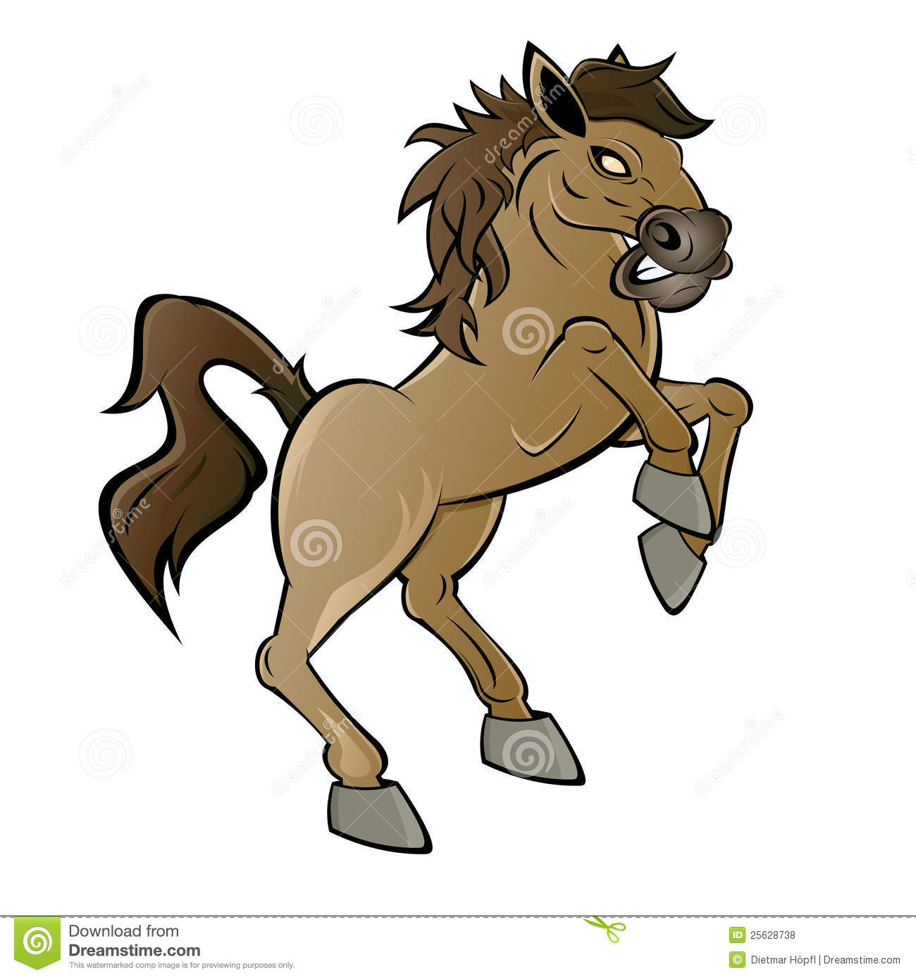 Cartoon horse or stallion stock photo image of profile for Clipart mare