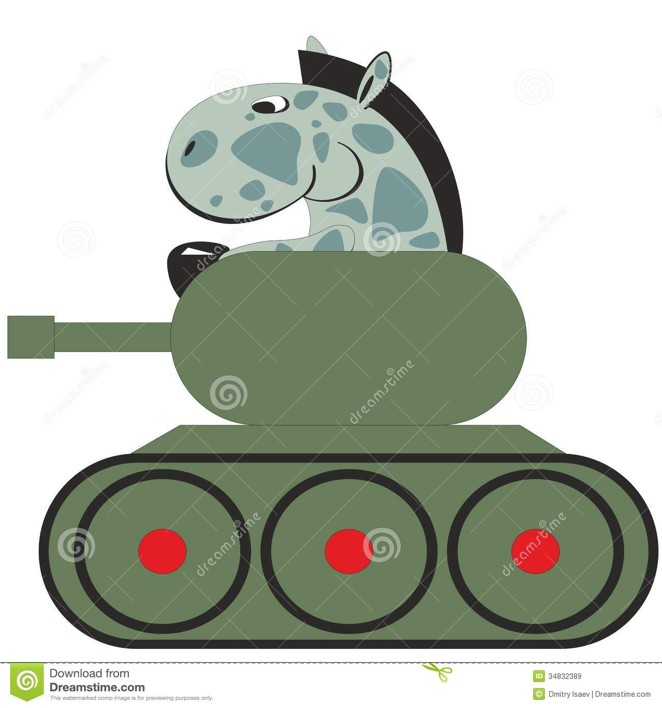 Cartoon Horse In Tank 011 Royalty Free Stock Images Image 34832389
