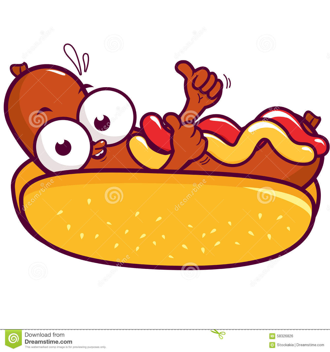 Drawings Of Chili Hot Dogs