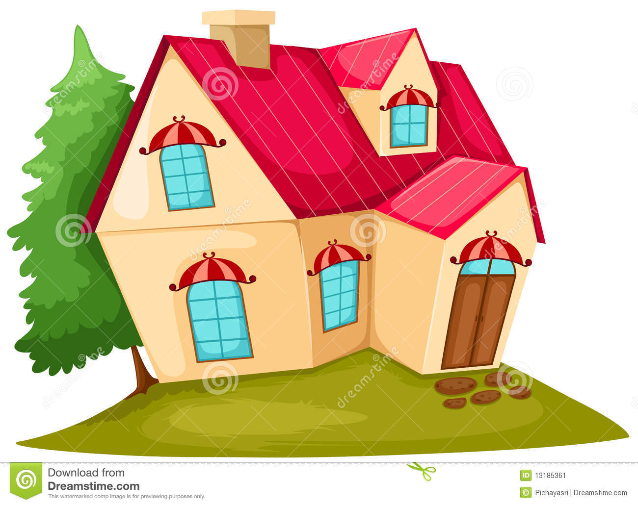 Cartoon House Stock Image Image 13185361