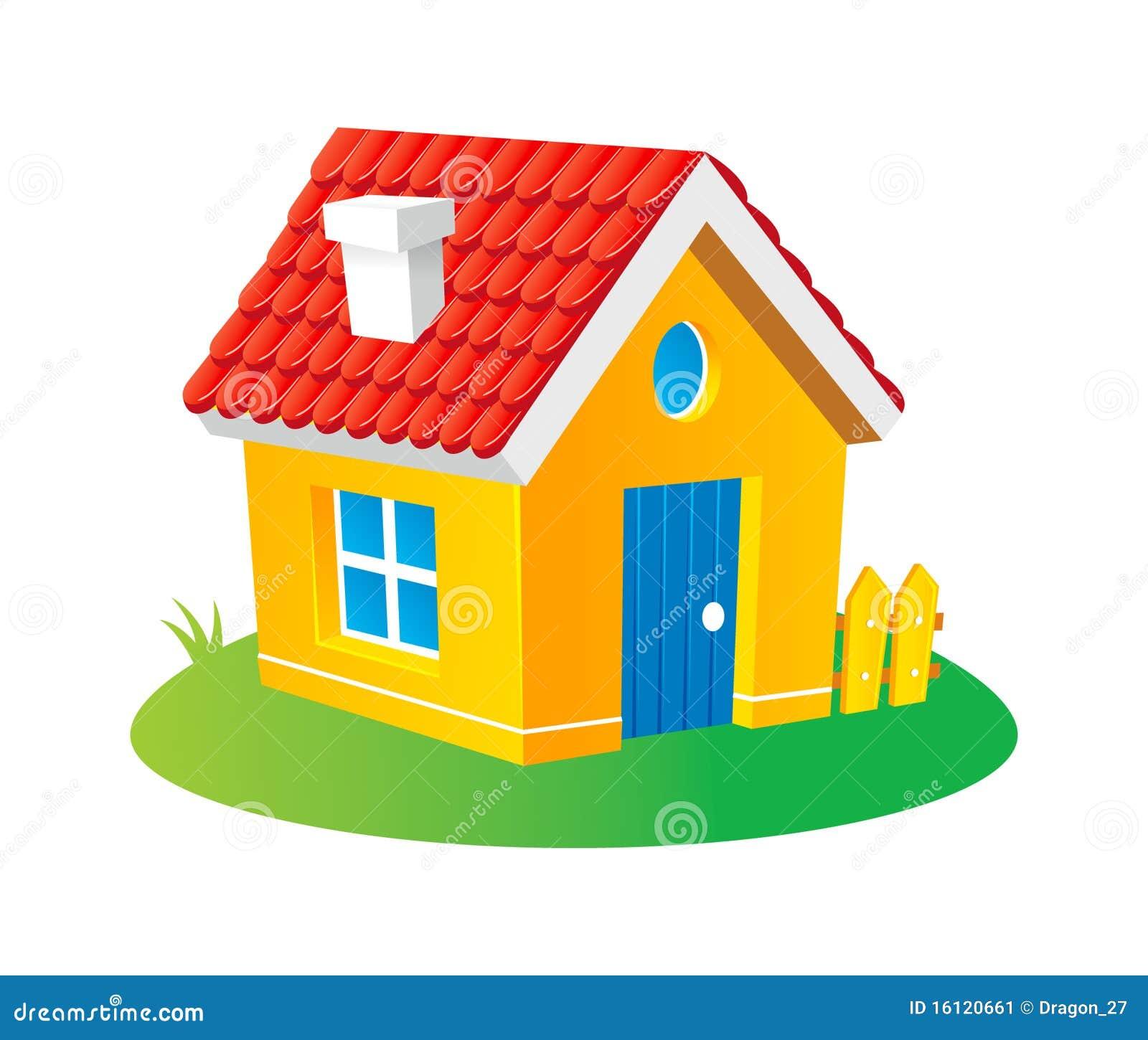 Cartoon house stock vector illustration of grass tile - Dessins maison ...