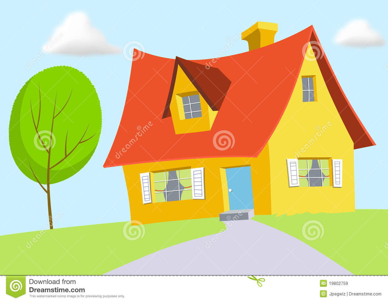 Cartoon House Royalty Free Stock Images Image 19802759