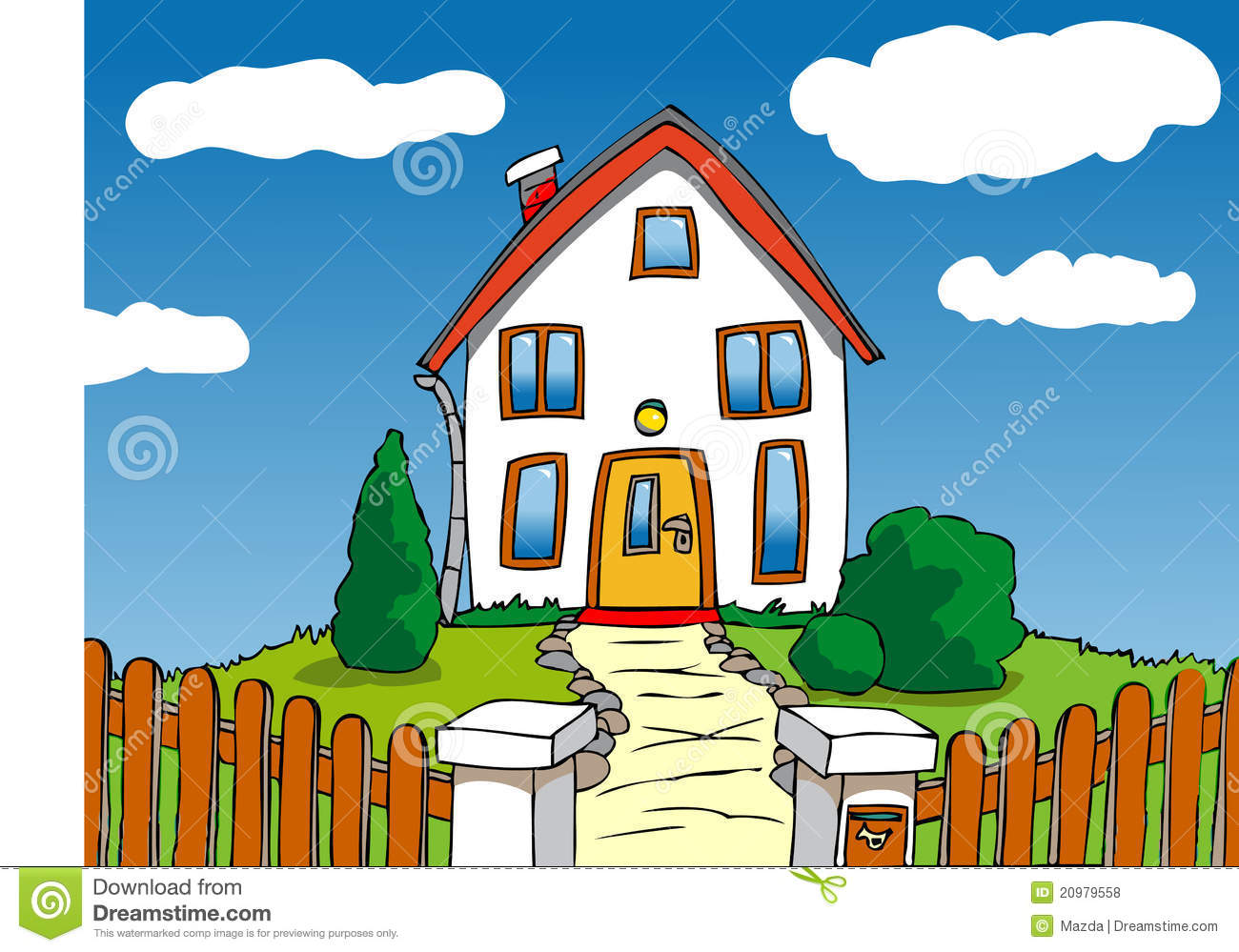 Cartoon house royalty free stock photos image 20979558 for Draw house online