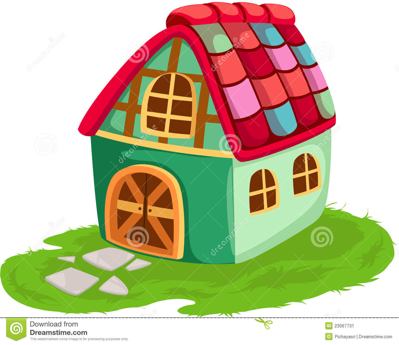 Cartoon house stock image image 23067731 for Dessin maison