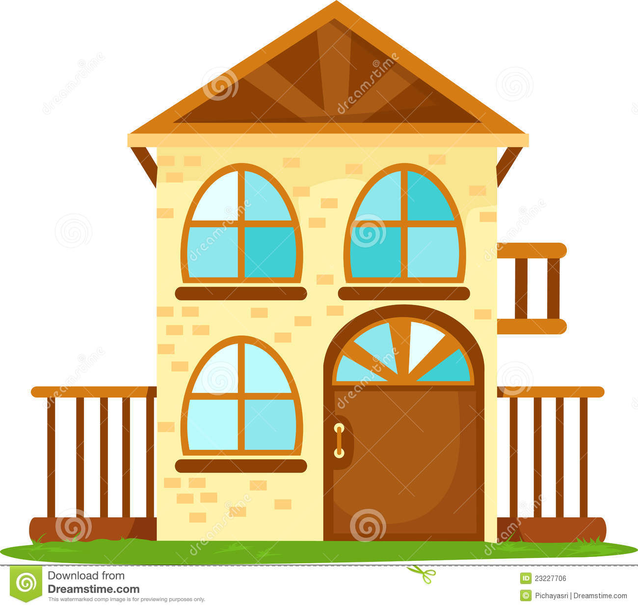 Draw House Plans Cartoon House Royalty Free Stock Image Image 23227706