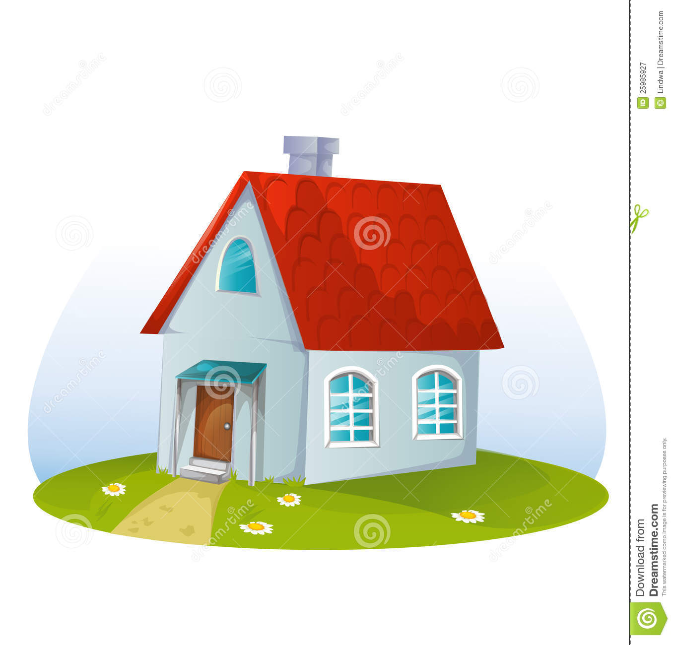 Cartoon House Royalty Free Stock Photography - Image: 25985927