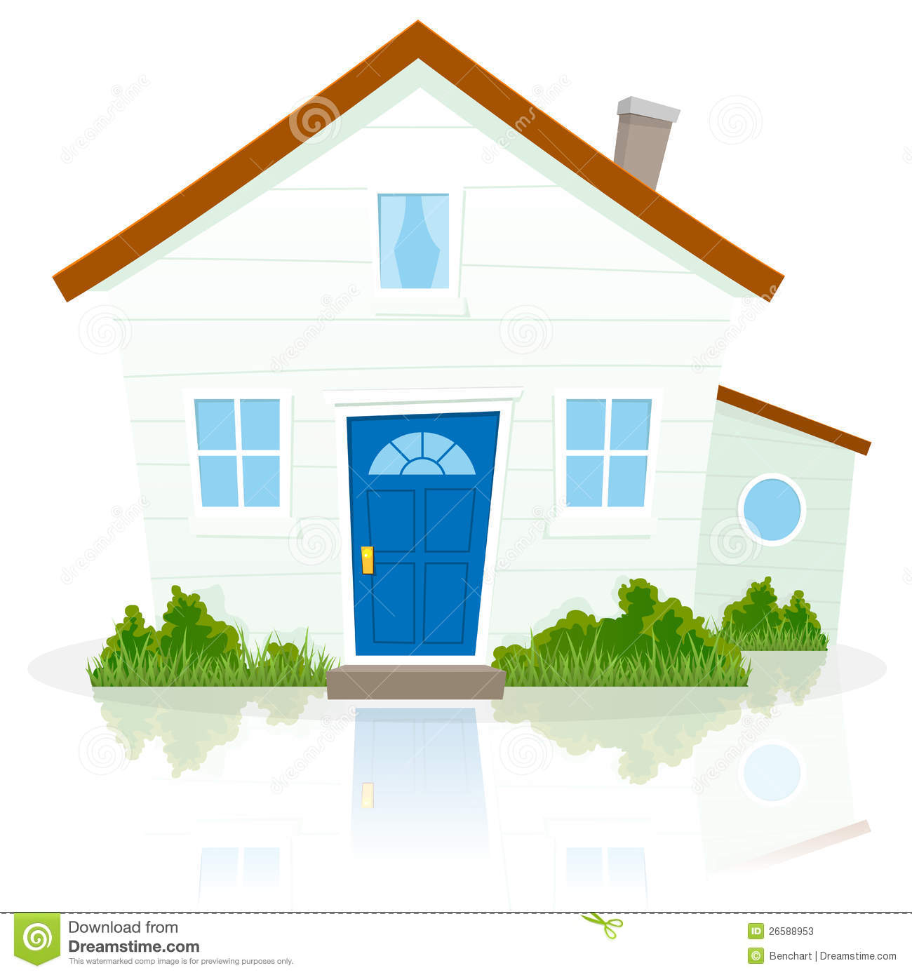 Cartoon house stock vector illustration of place estate for Picture of my home