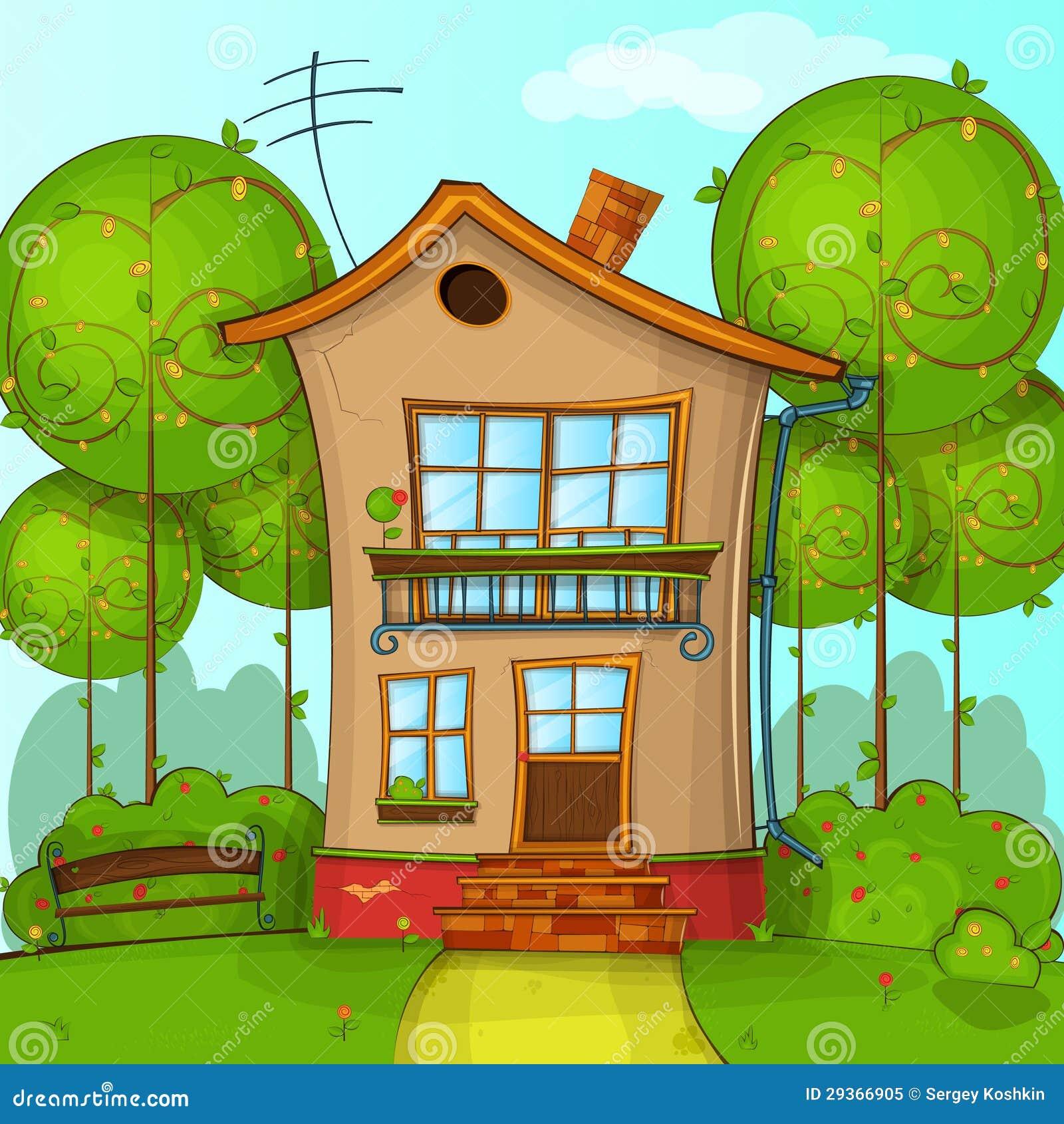 Cartoon House Royalty Free Stock Photo