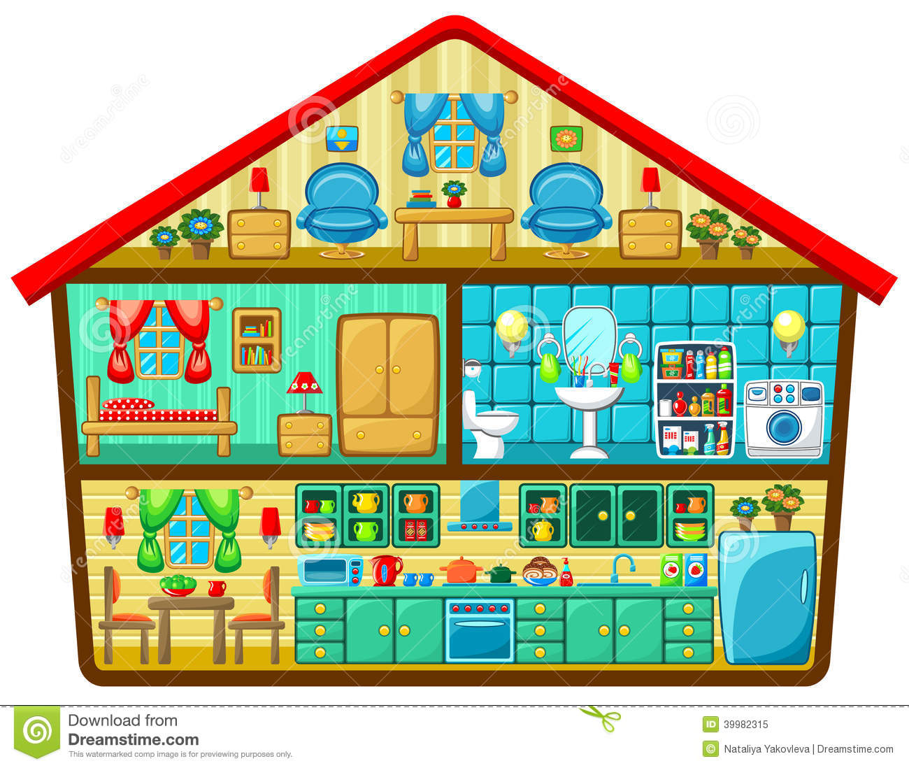 Cartoon house in a cut stock vector illustration of for See images of my house