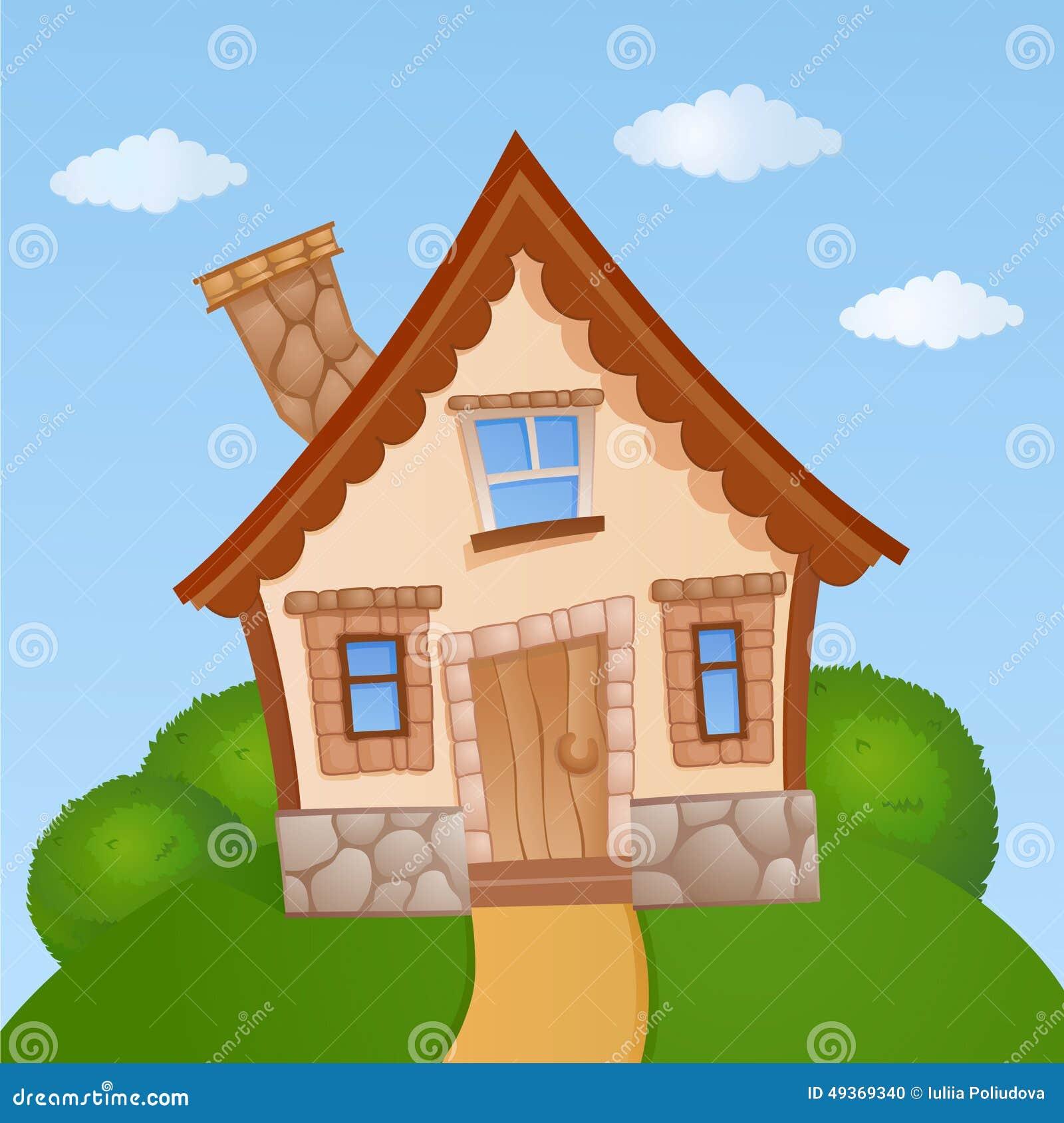 House design cartoon - Royalty Free Illustration Download Cartoon House