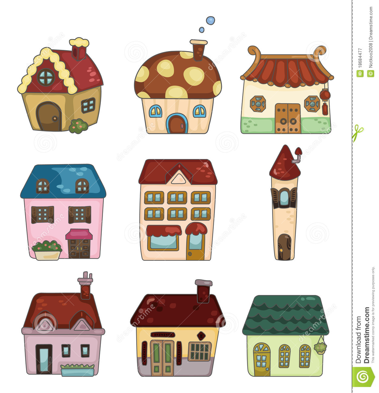 Cartoon house icon stock vector. Illustration of building ...