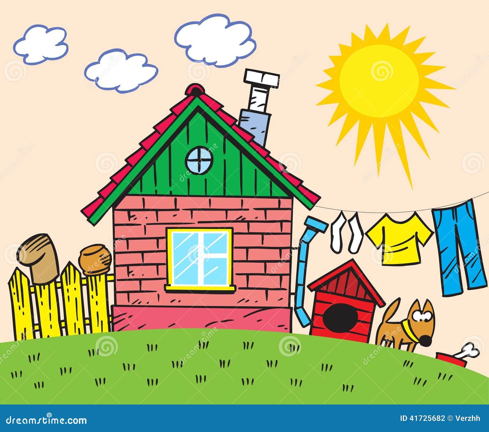 House design cartoon - Royalty Free Vector Download Cartoon House