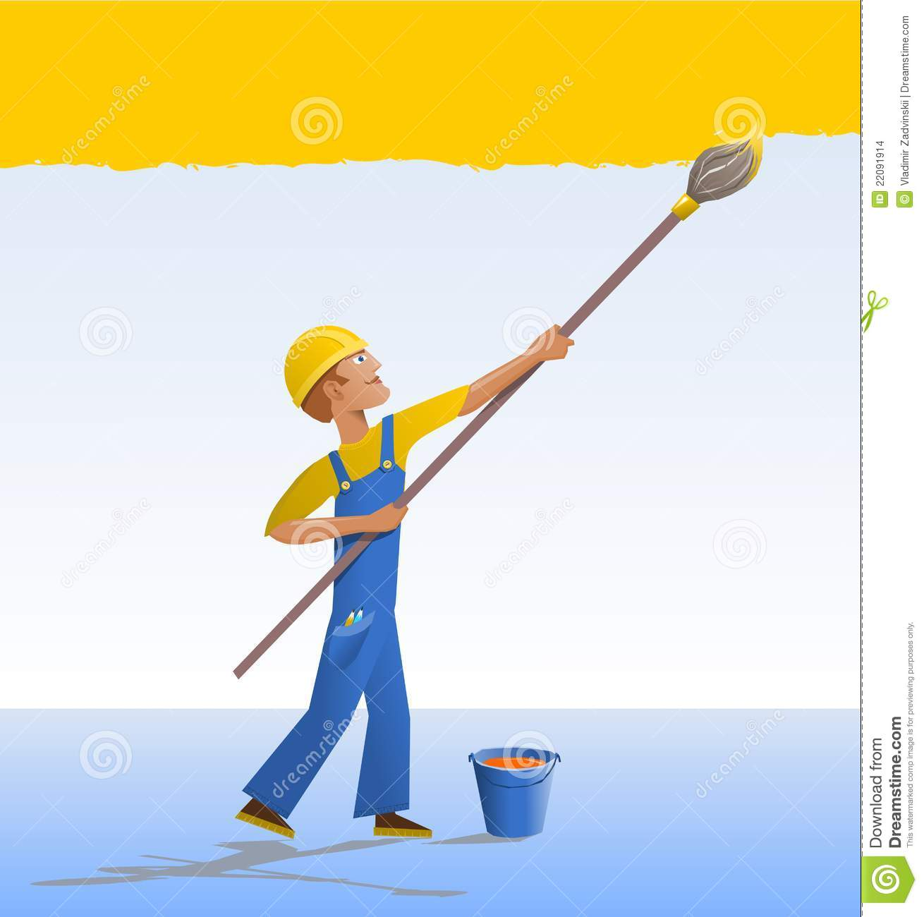 Painter And Decorator Prices >> Cartoon house painter. stock vector. Illustration of wall - 22091914