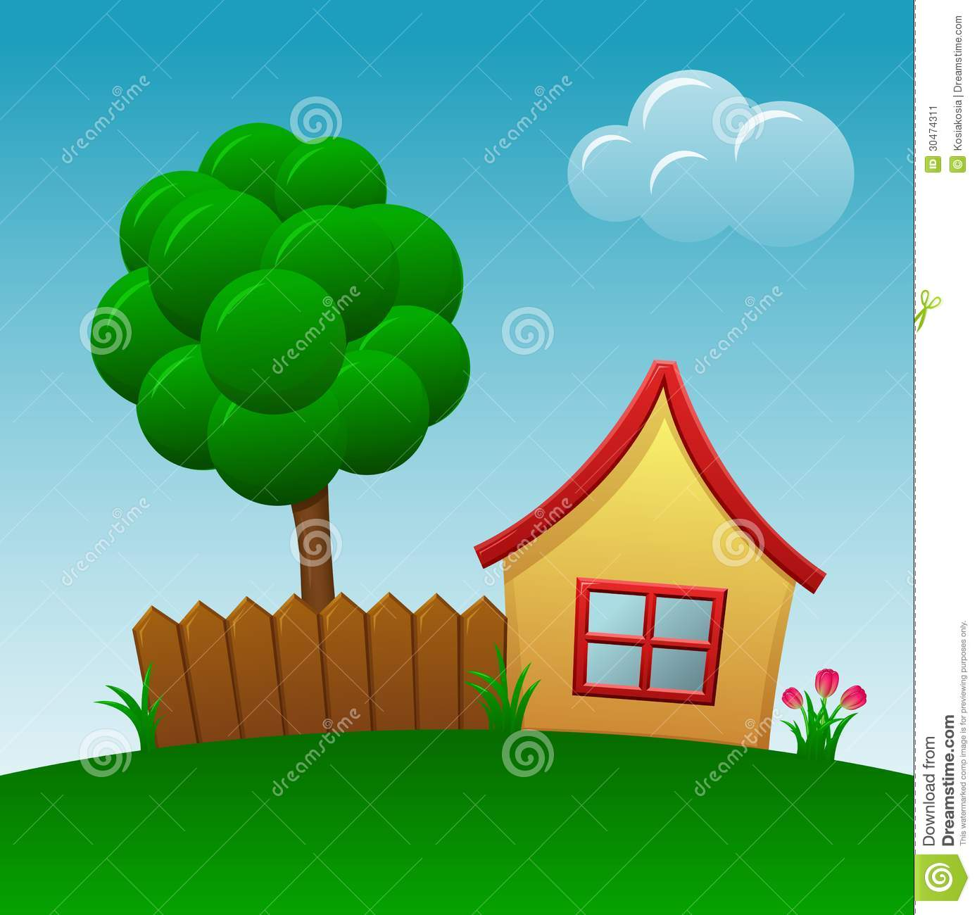 cartoon house stock illustration image of flower house