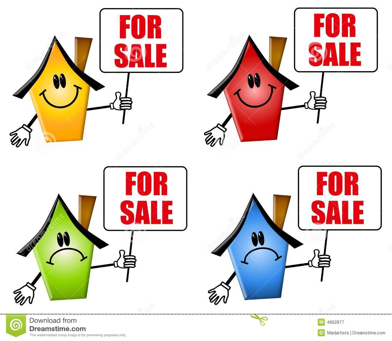 Free clip art homes for sale