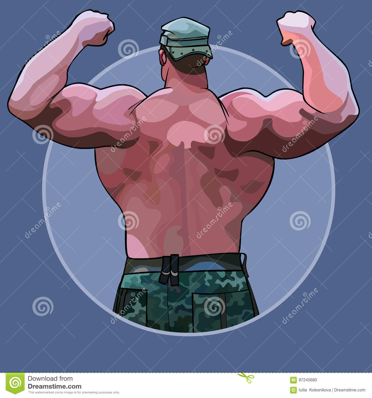 Cartoon bodybuilder stock illustrations 2 659 cartoon - Cartoon body builder ...