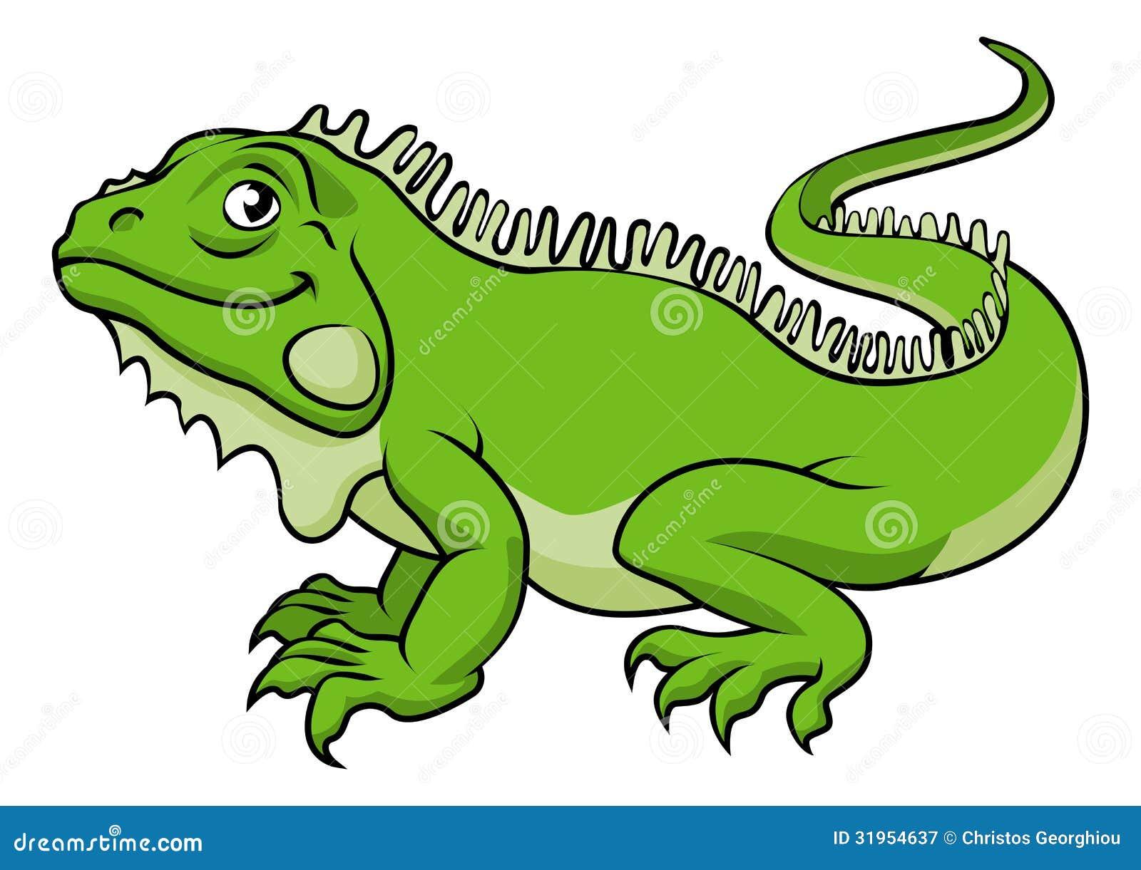 Cartoon Iguana Lizard Royalty  Lizard Clipart