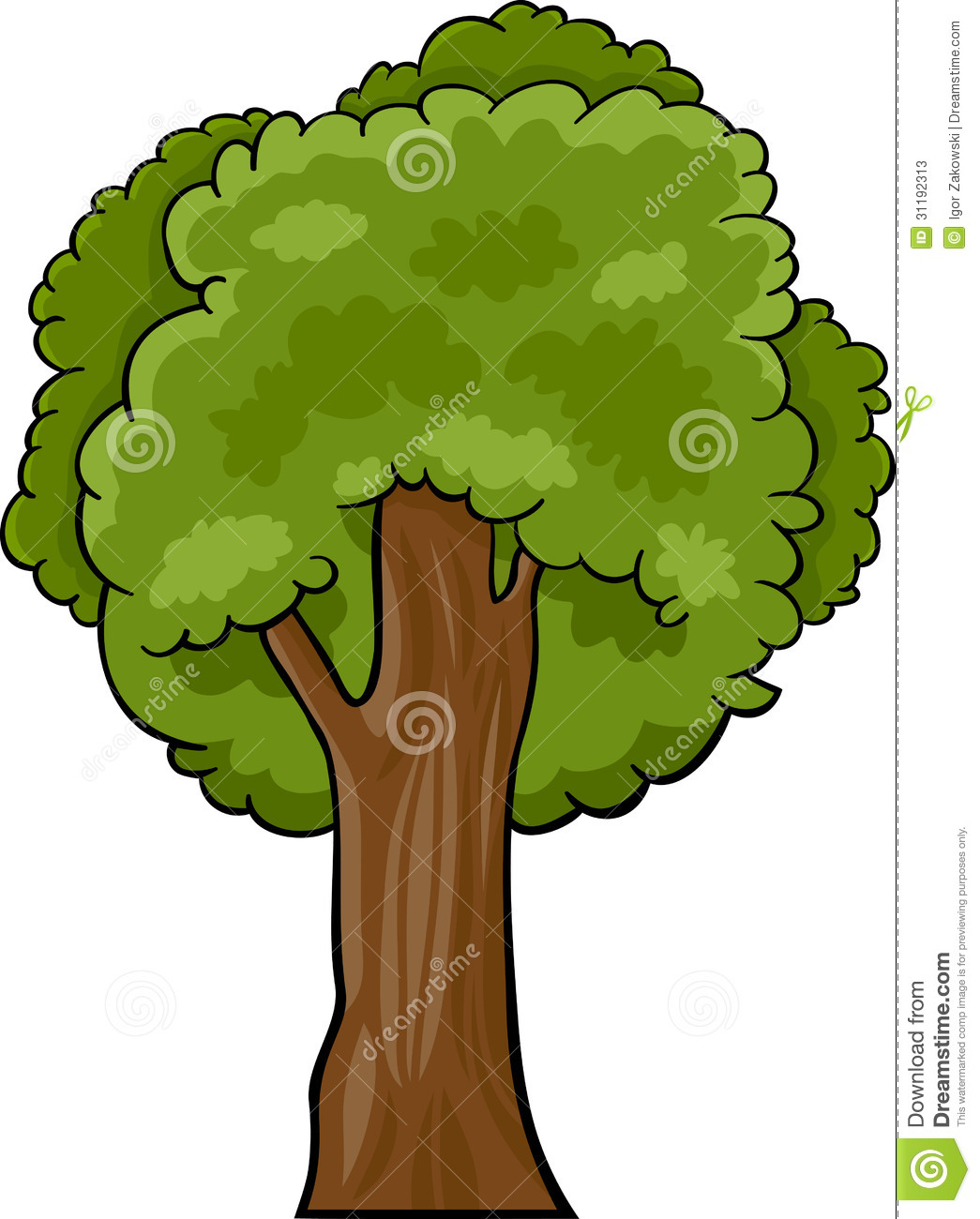 Cartoon maple tree