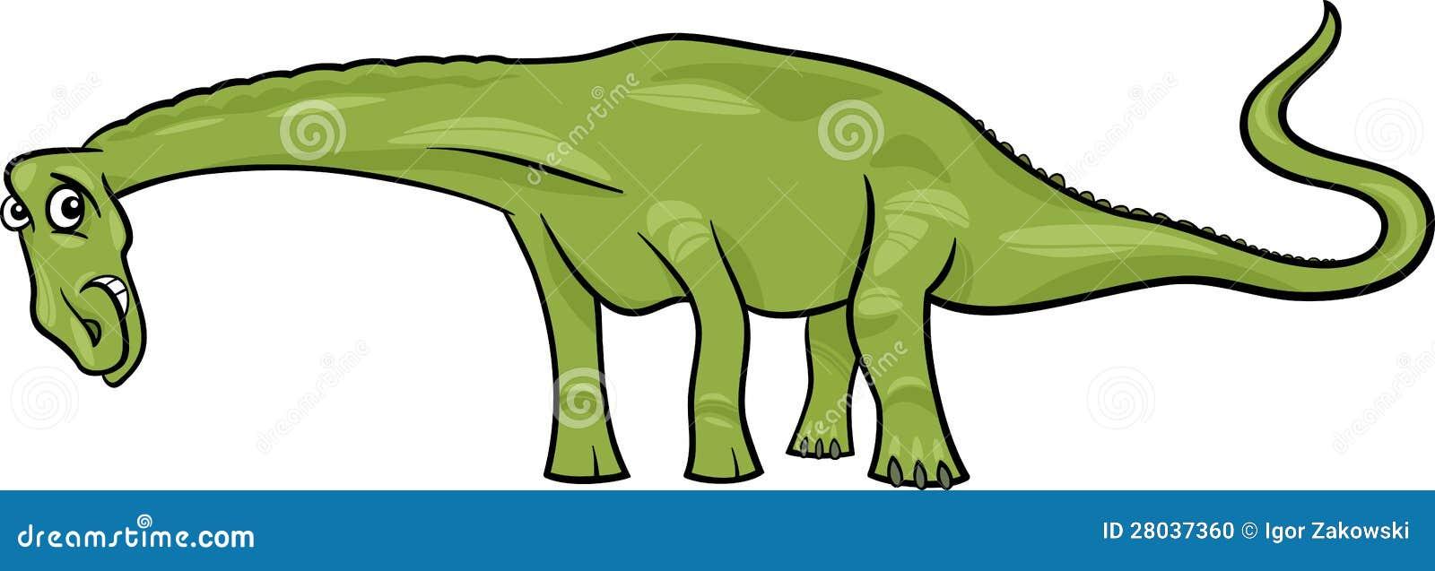 cartoon illustration of diplodocus dinosaur