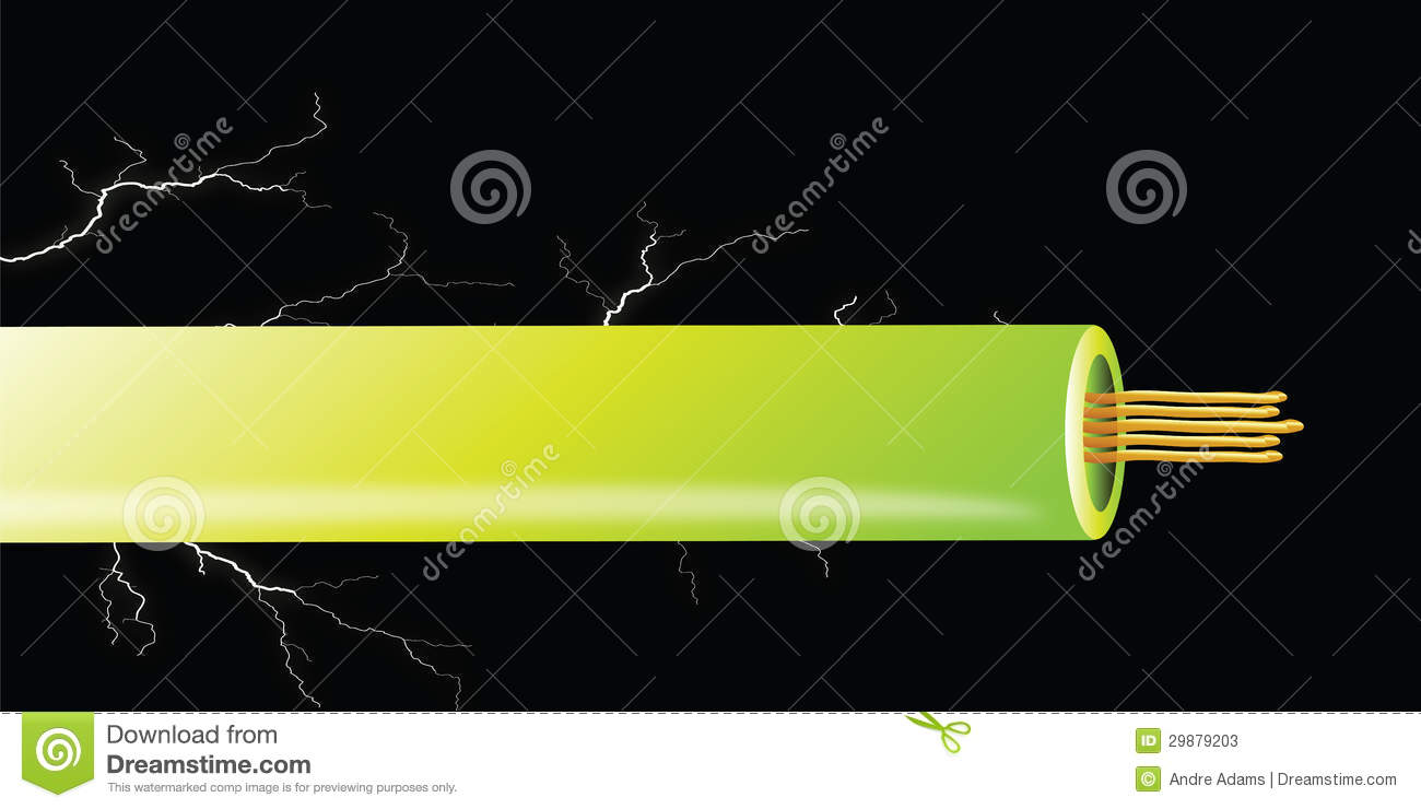 Cartoon Electrical Wire : Electrical cable stock photos image