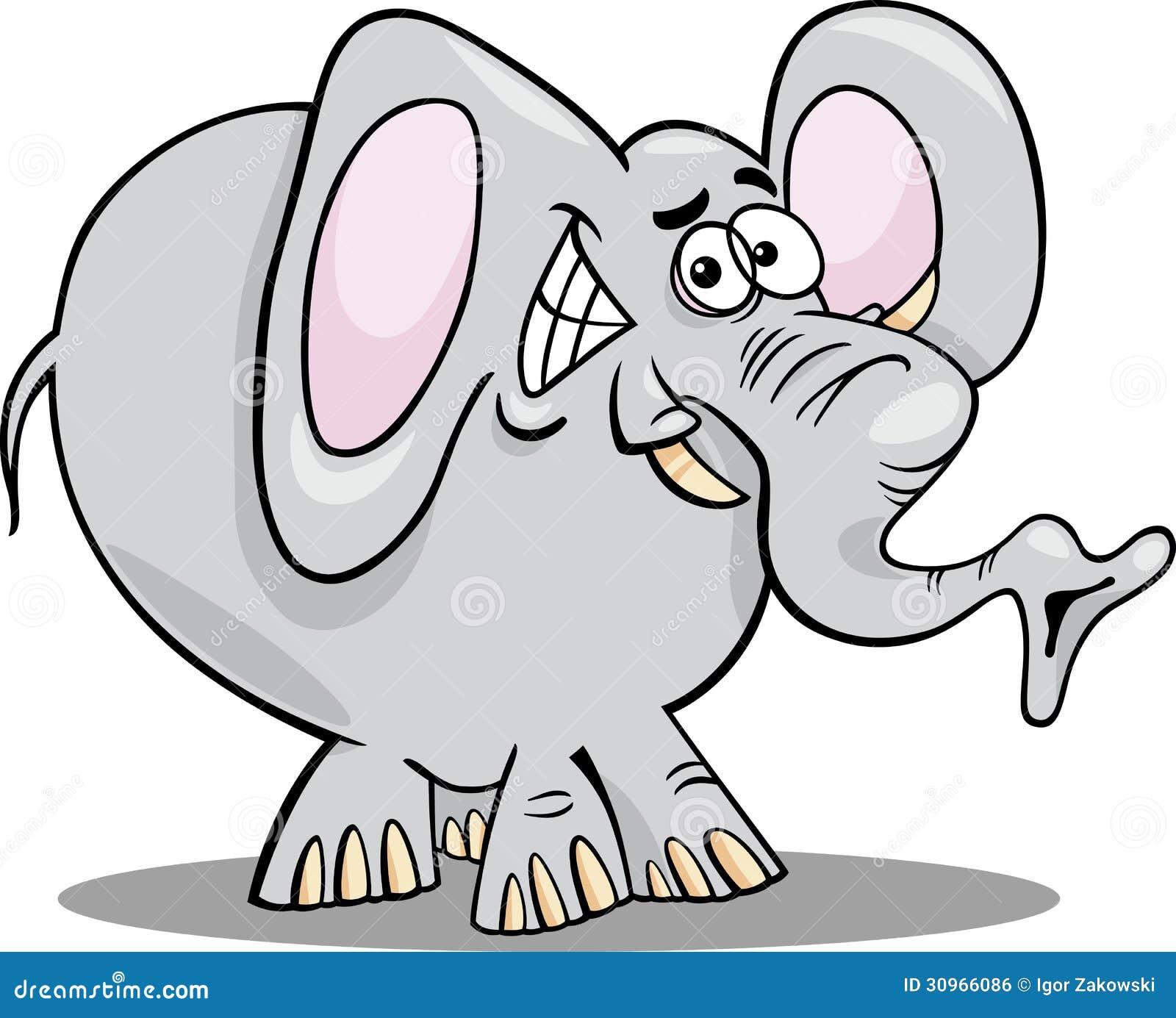 Cartoon Illustration Of Elephant Stock Vector ...