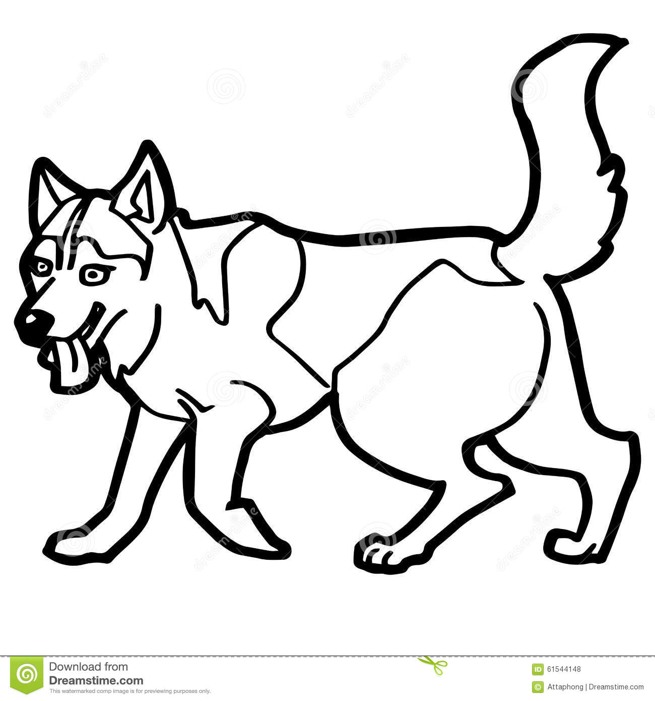 Cartoon Illustration Of Funny Dog For Coloring Book Stock Vector ...