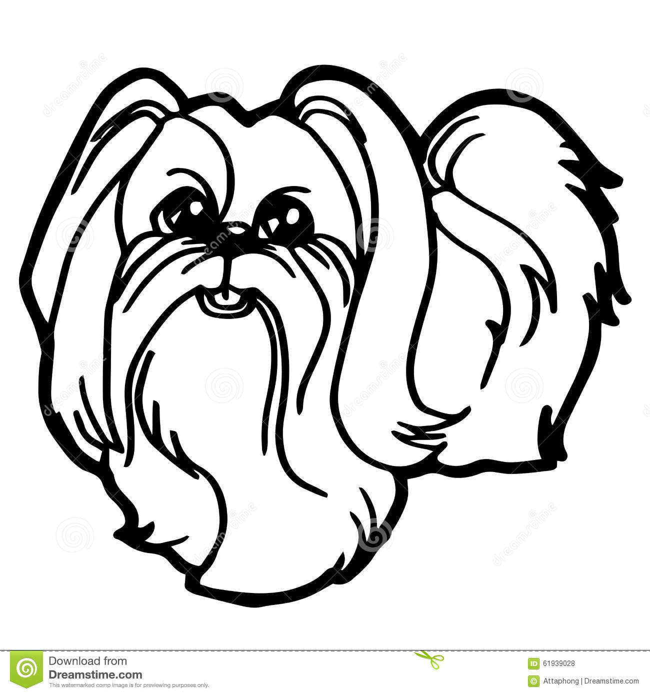 Cartoon Illustration Of Funny Dog For Coloring Book Stock Vector