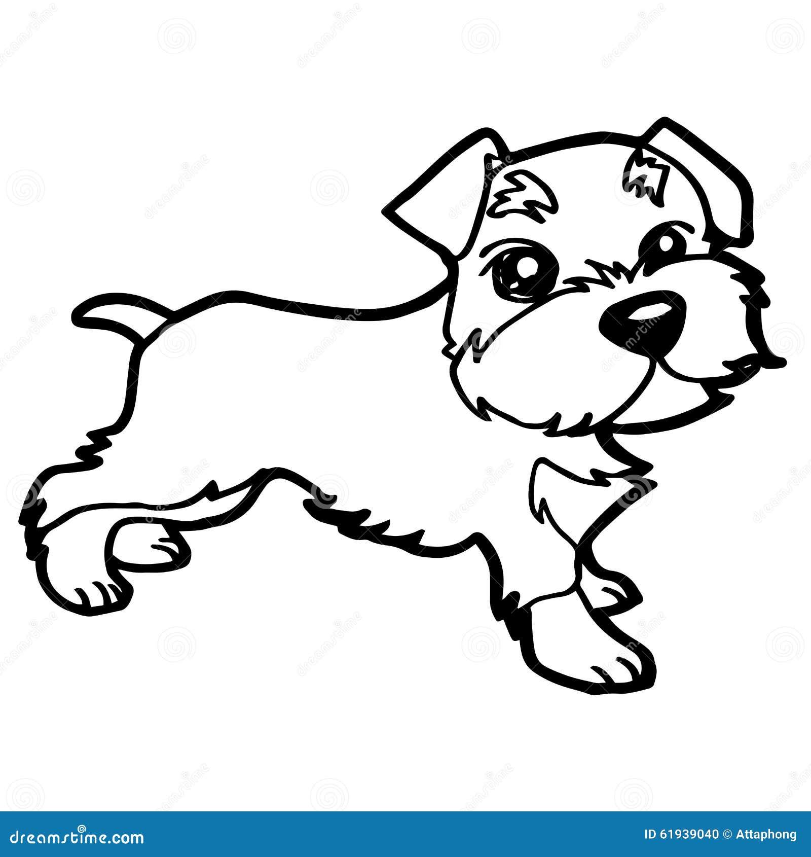 Cartoon Illustration Of Funny Dog
