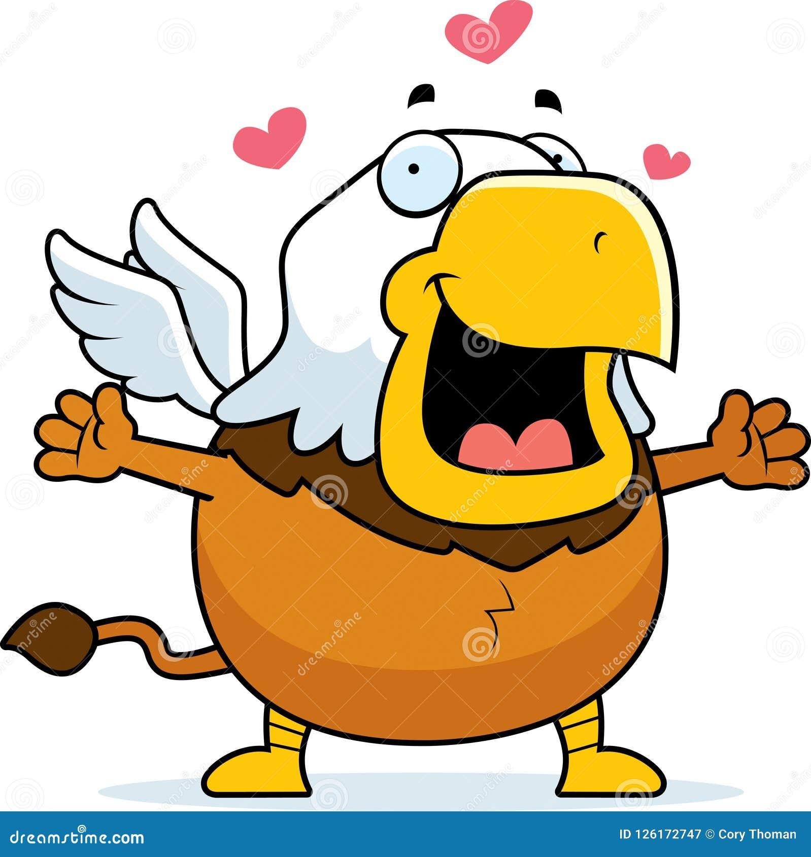 Cartoon Griffin Hug