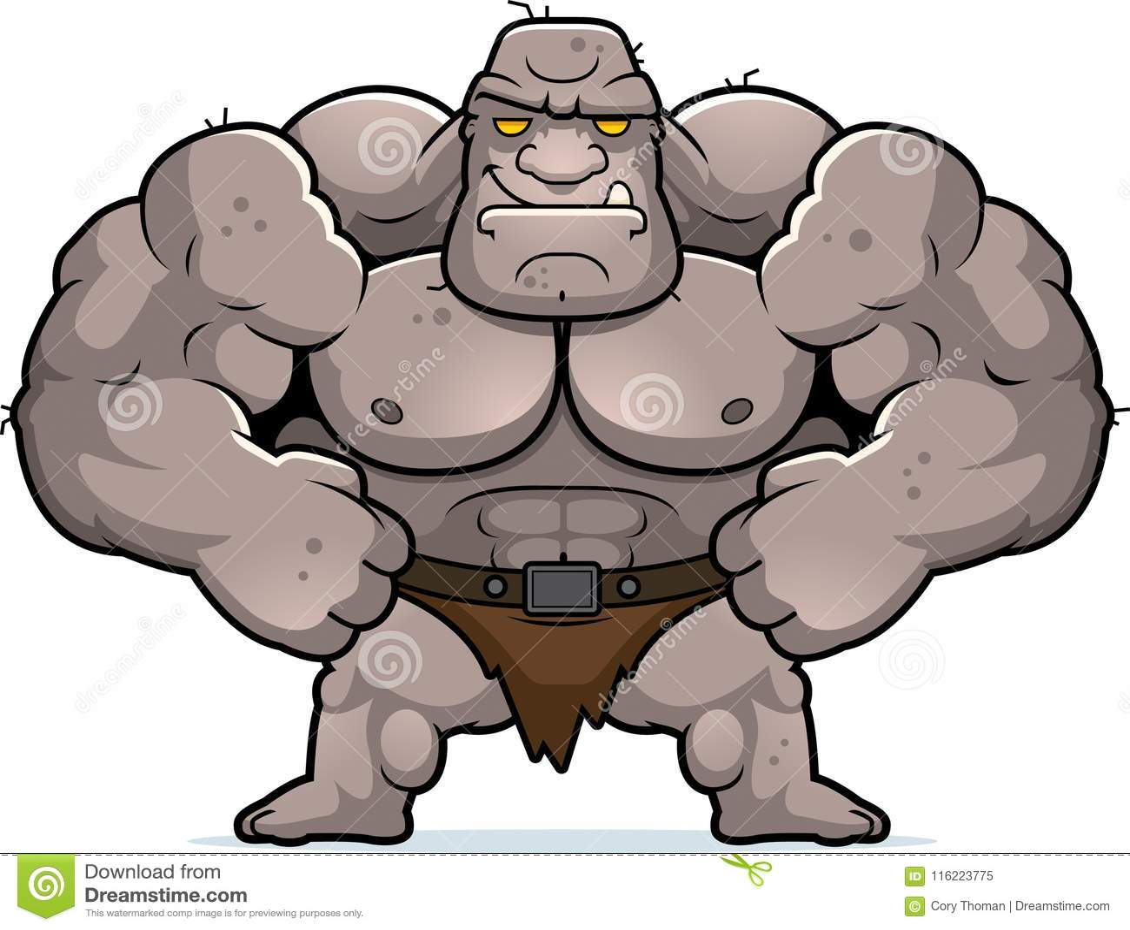 Cartoon Ogre Confident