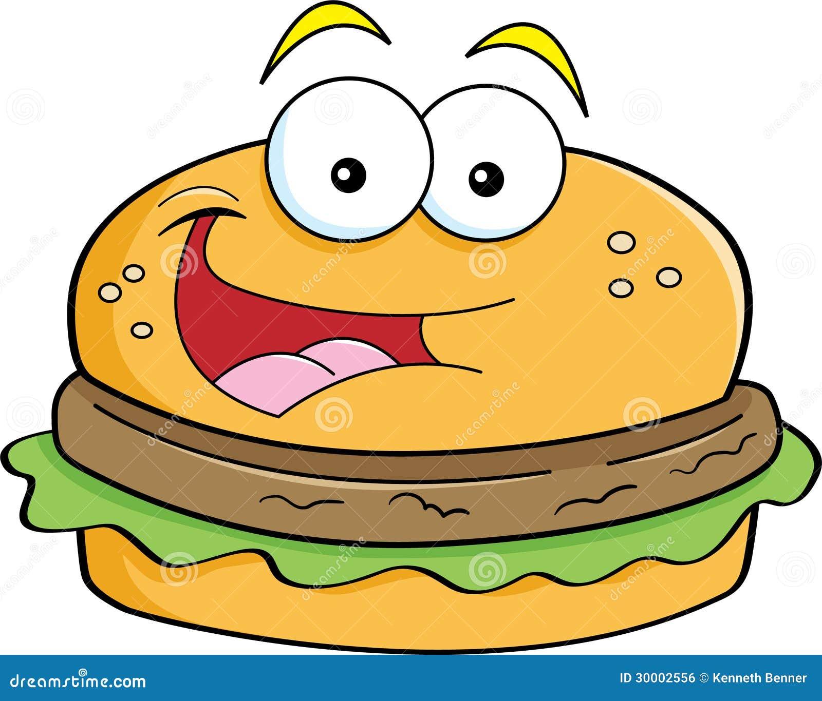 Cartoon Hamburger Royalty Free Stock Image - Image: 30002556