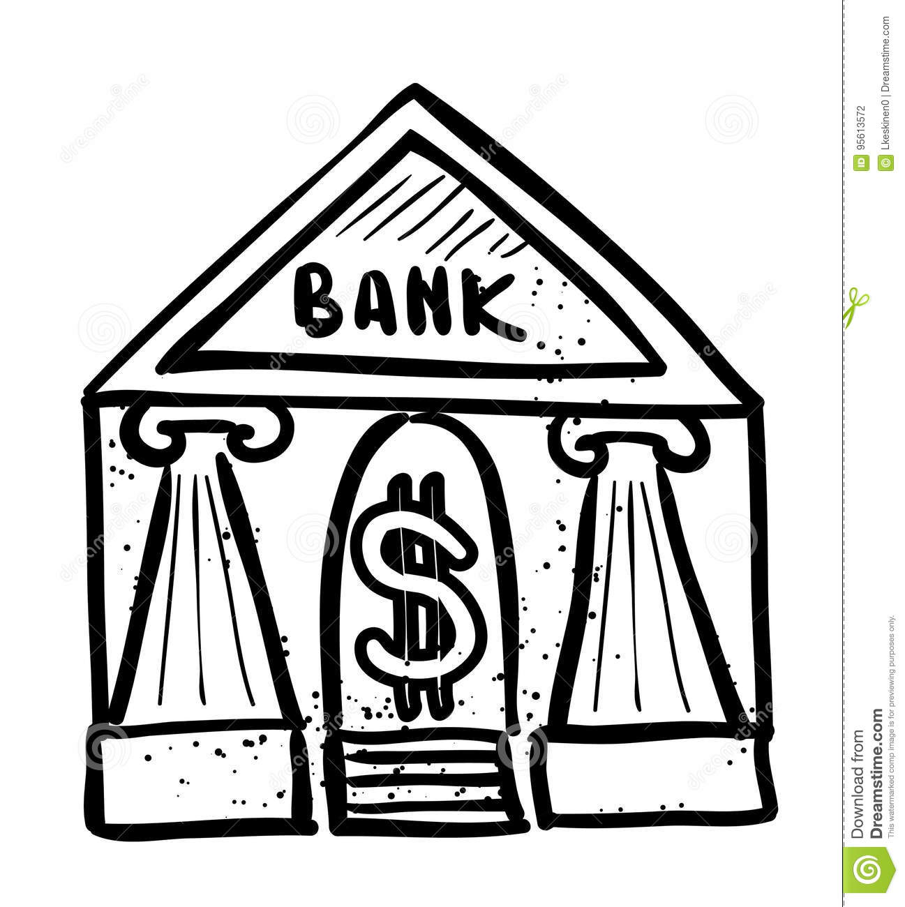 Cartoon Image Of Bank Icon. Government Symbol Stock Vector