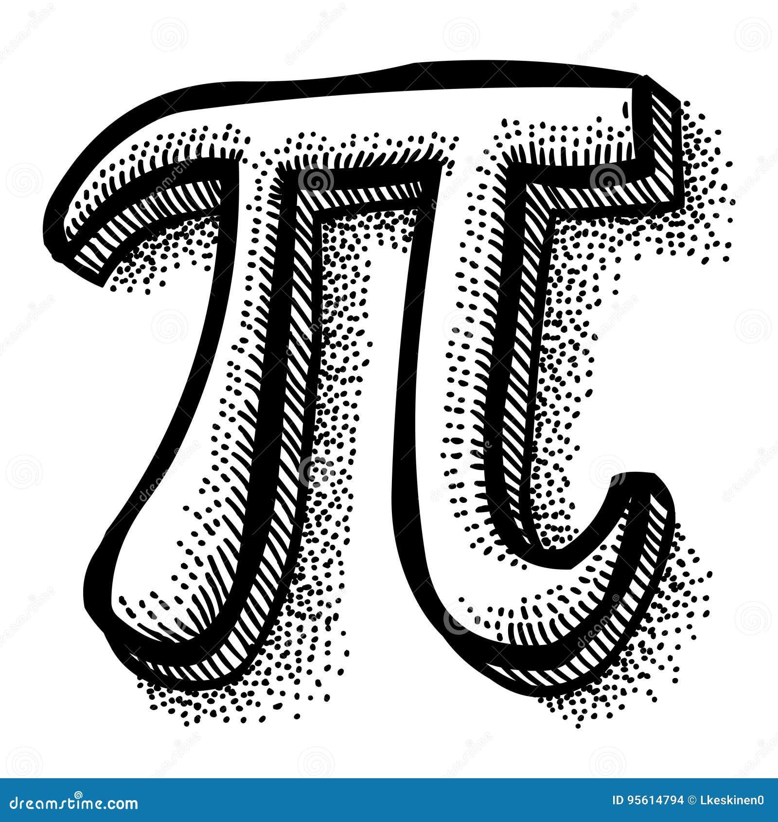 Cartoon Image Of Pi Symbol Stock Vector Illustration Of Engineering