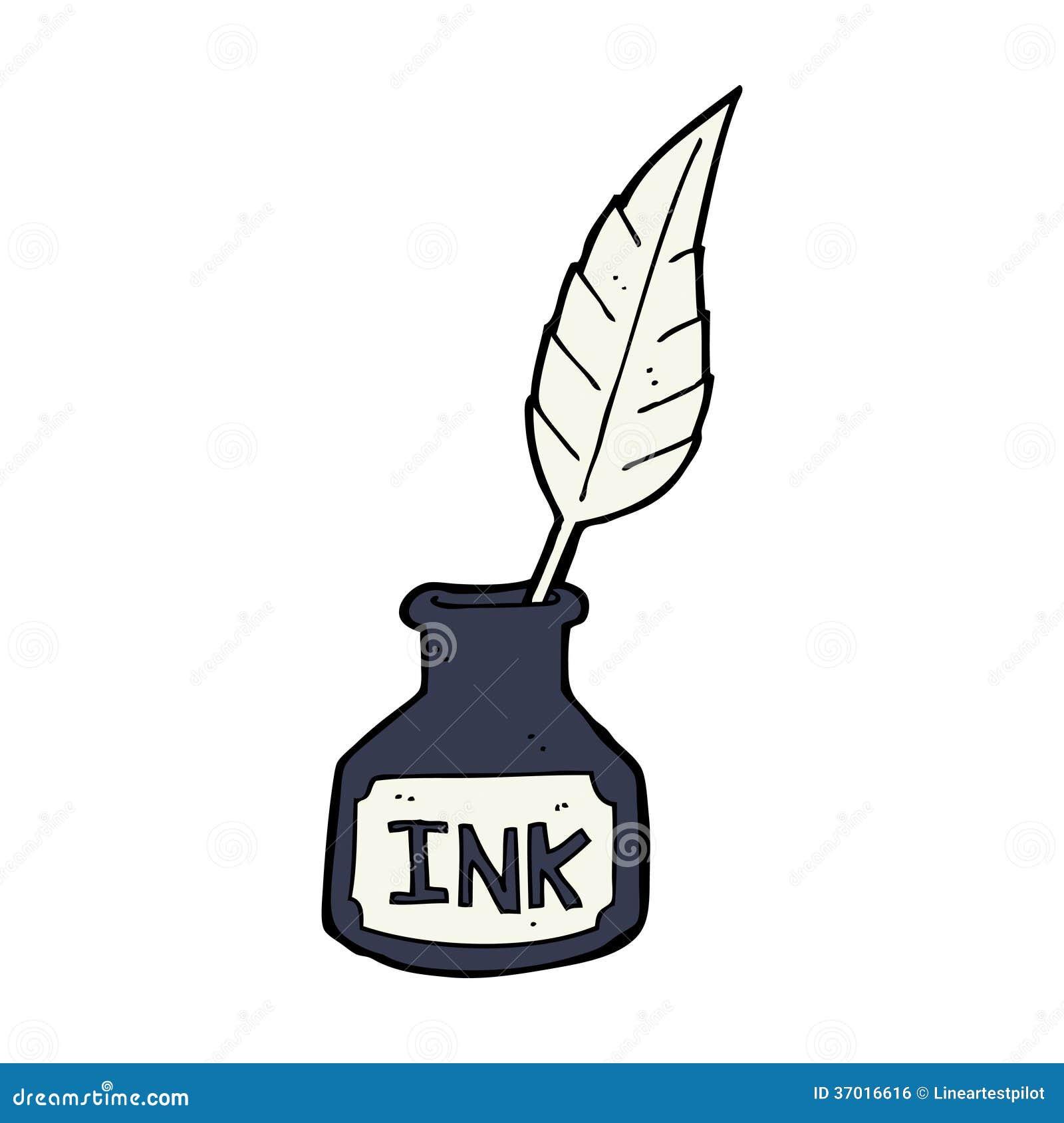 Cartoon Ink Bottle Royalty Free Stock Image - Image: 37016616