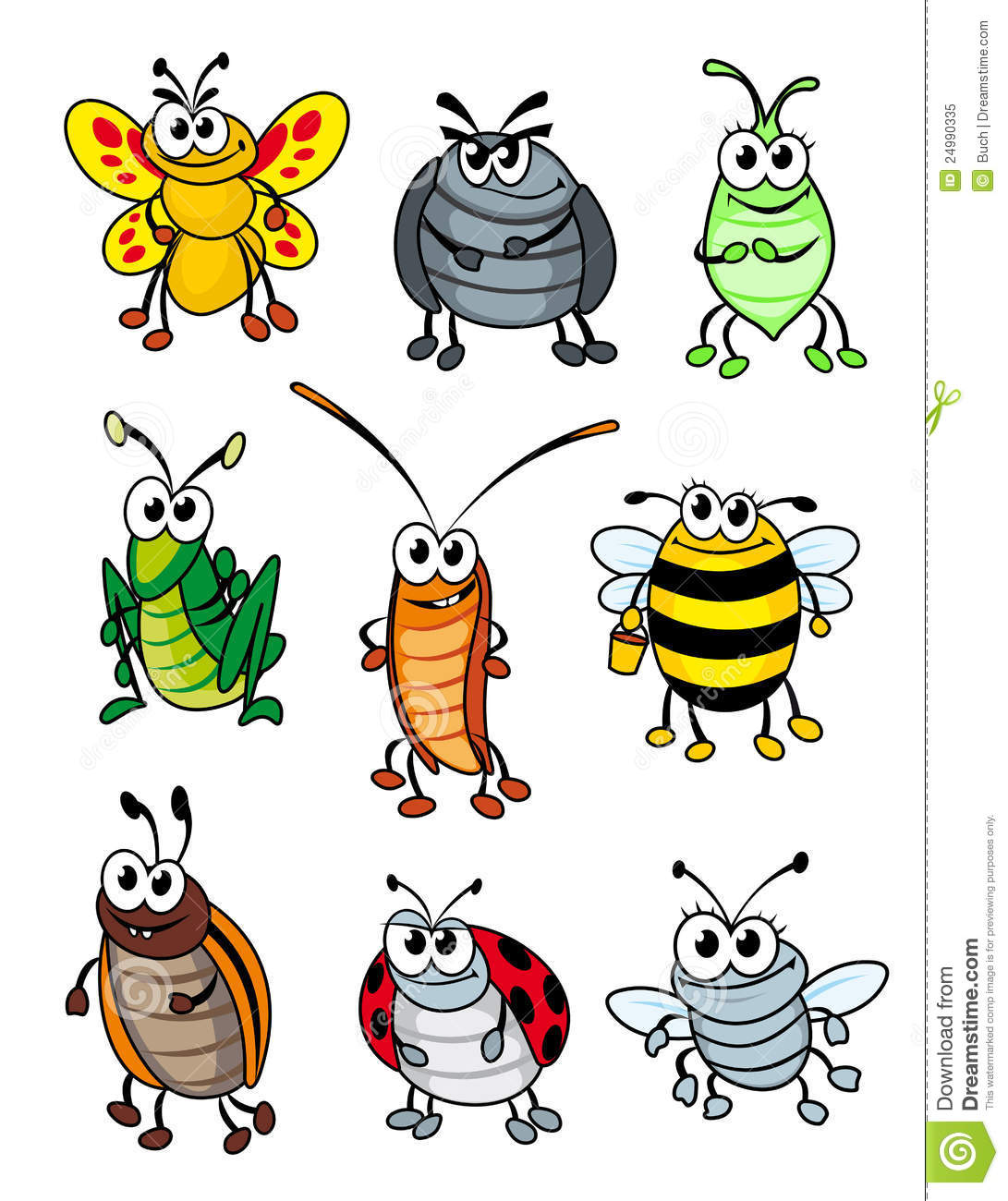 Cartoon Insects Royalty Free Stock Photo - Image: 24990335