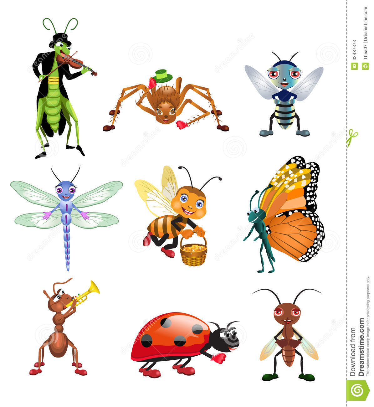 banco de jardim vetor : banco de jardim vetor:Vector Insect Cartoon
