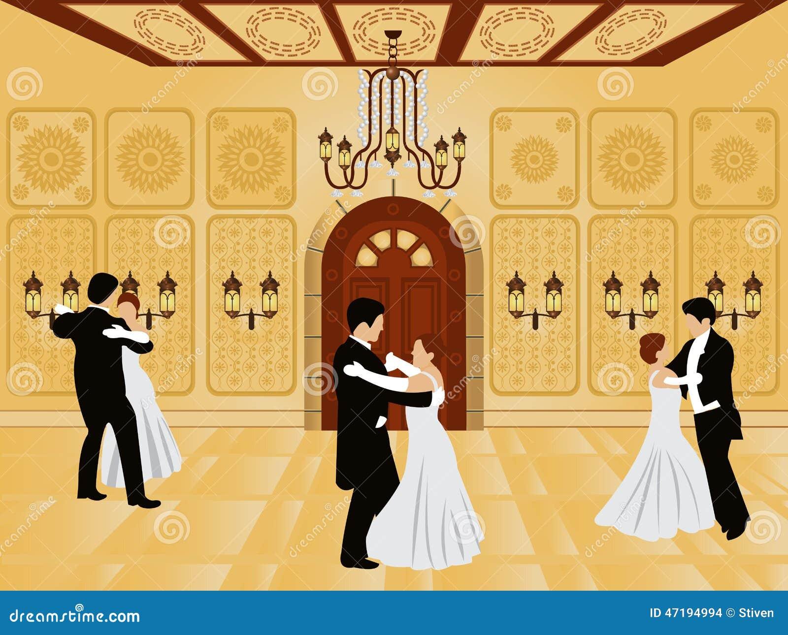 Cartoon Interior - Ballroom Stock Vector - Illustration of ...