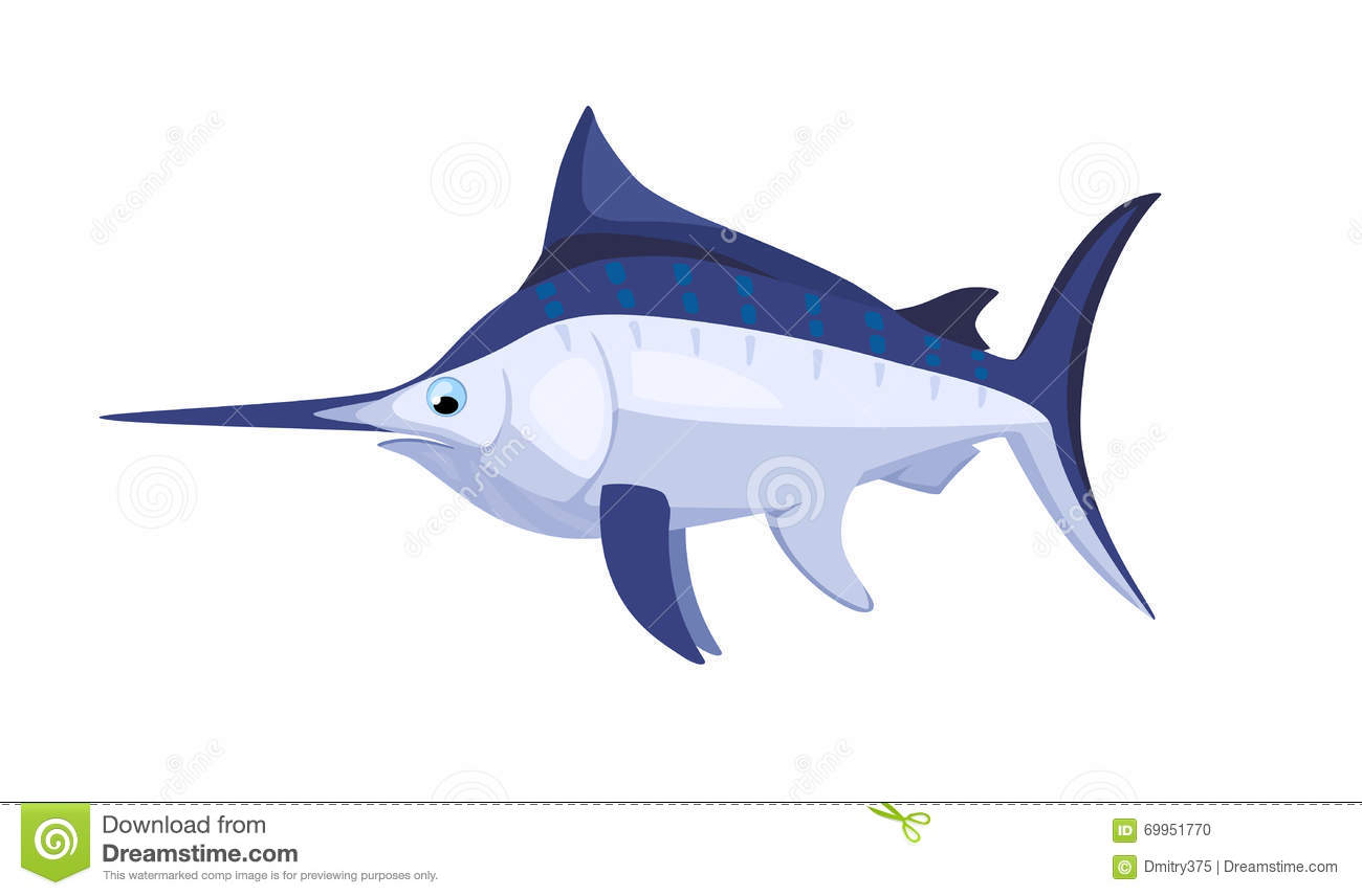 cartoon isolated marlin stock vector image 69951770 sailfish clip art that is not a square picture Cartoon Sailfish