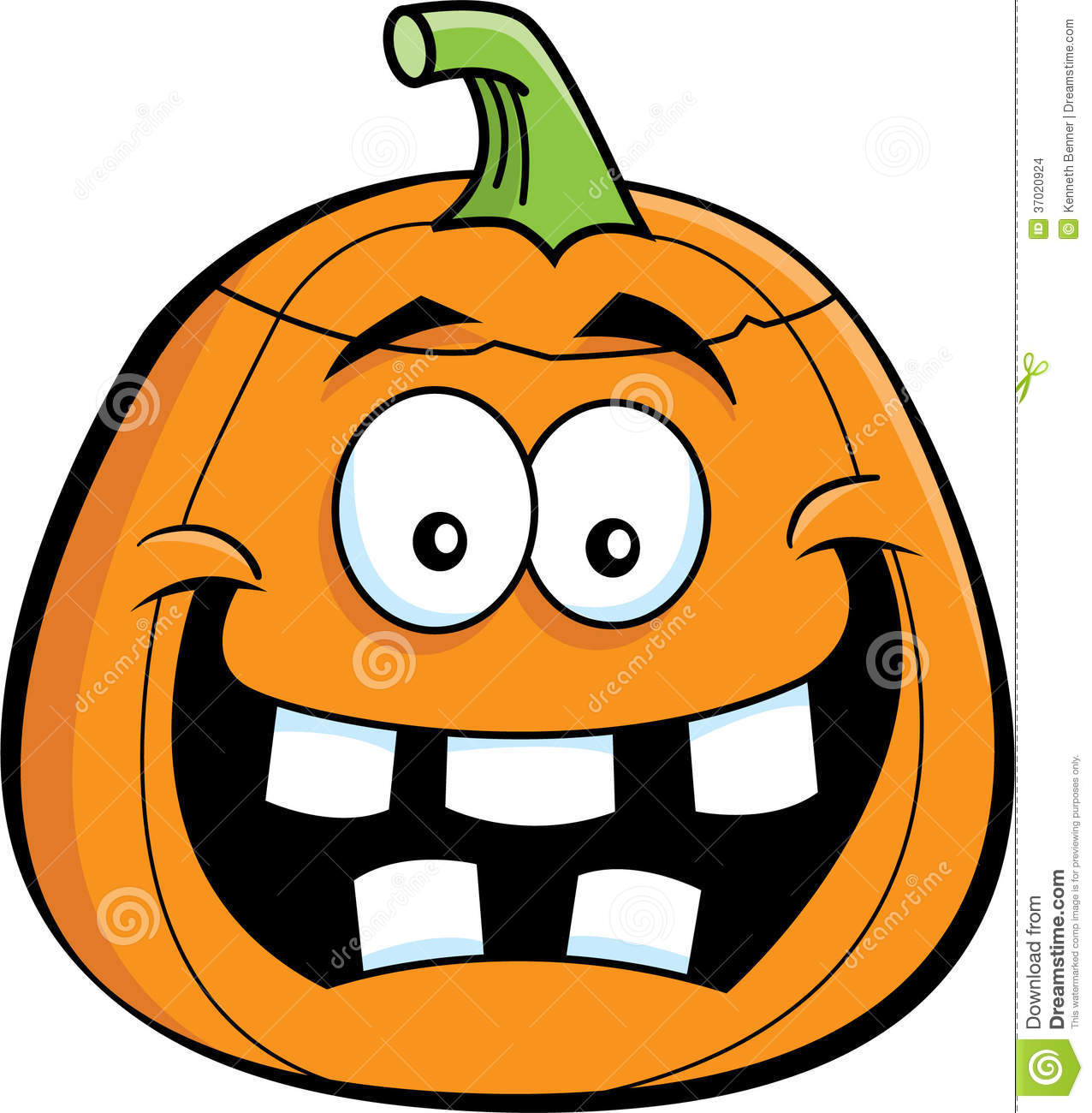 Cartoon illustration of a jack o' lantern Halloween pumpkin.