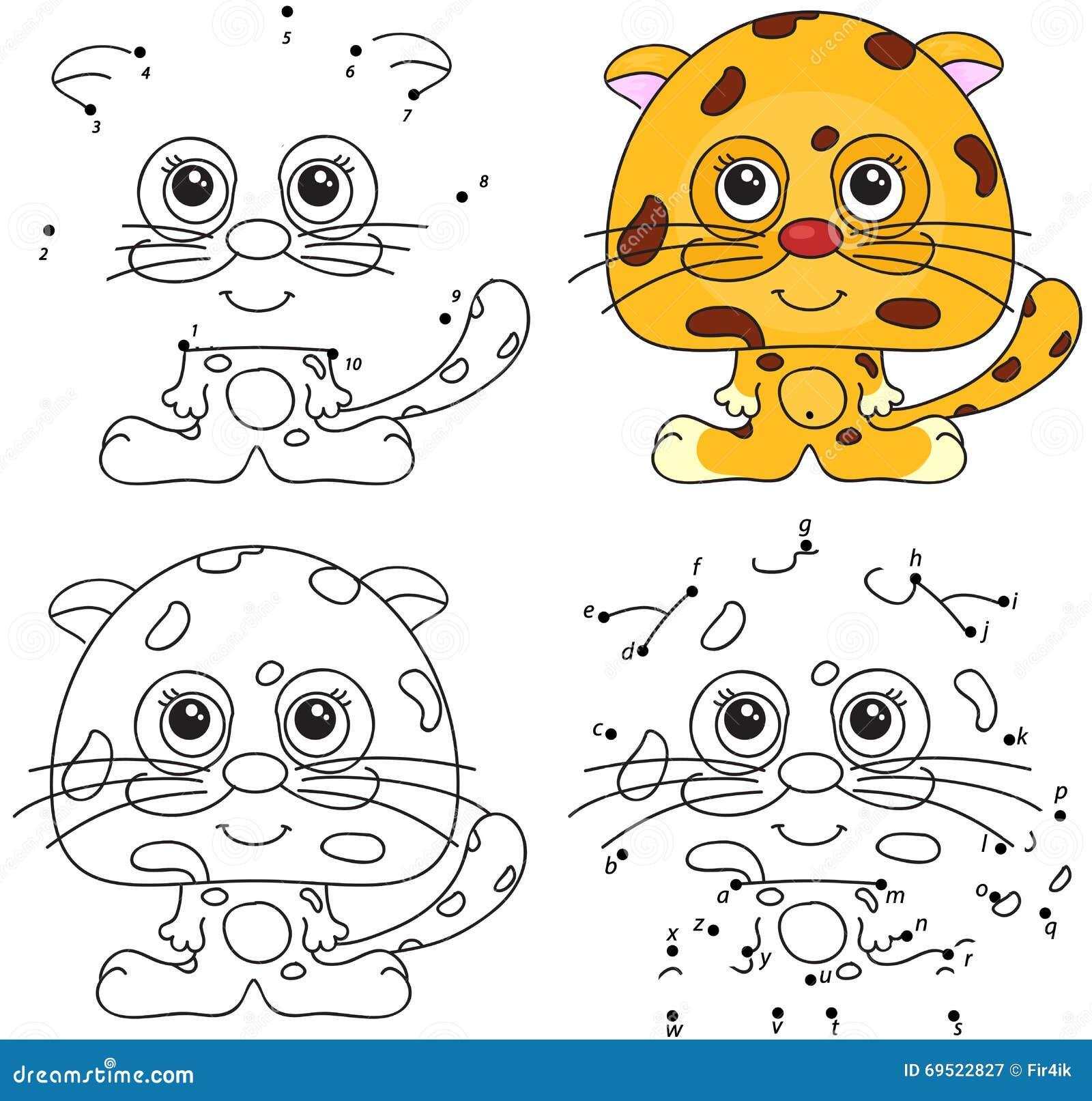 Royalty Free Vector Download Cartoon Jaguar Coloring Book