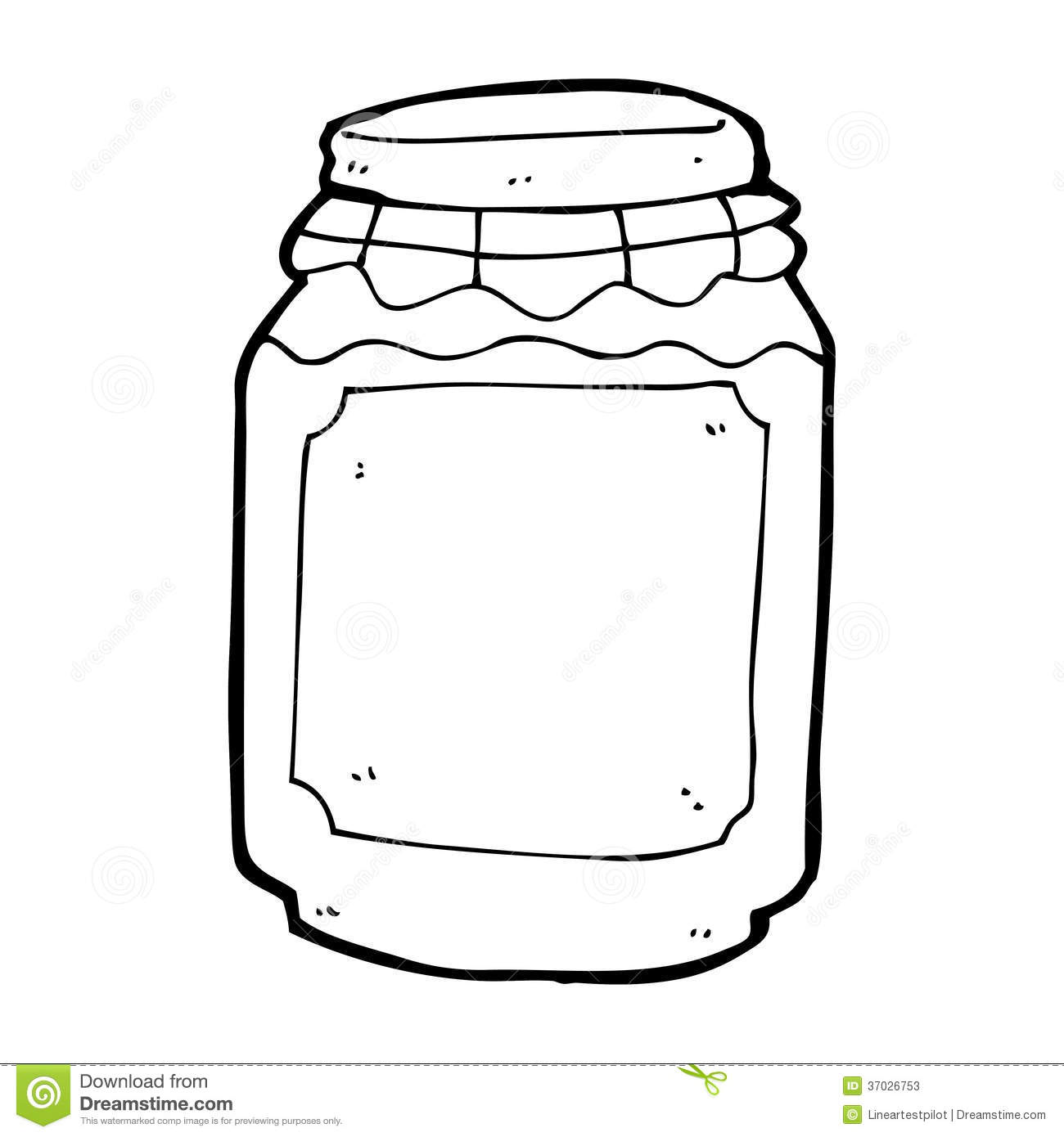Line Drawing Jar : Cartoon jar of jam stock illustration